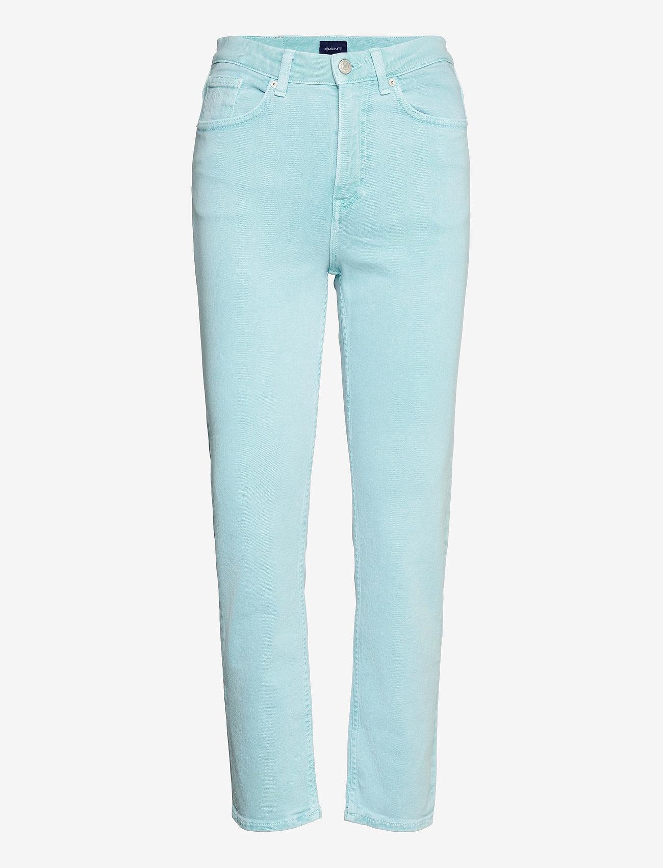 GANT - D1. HW SLIM CROPPED COLOUR JEANS - slim jeans - aquatic blue - 0