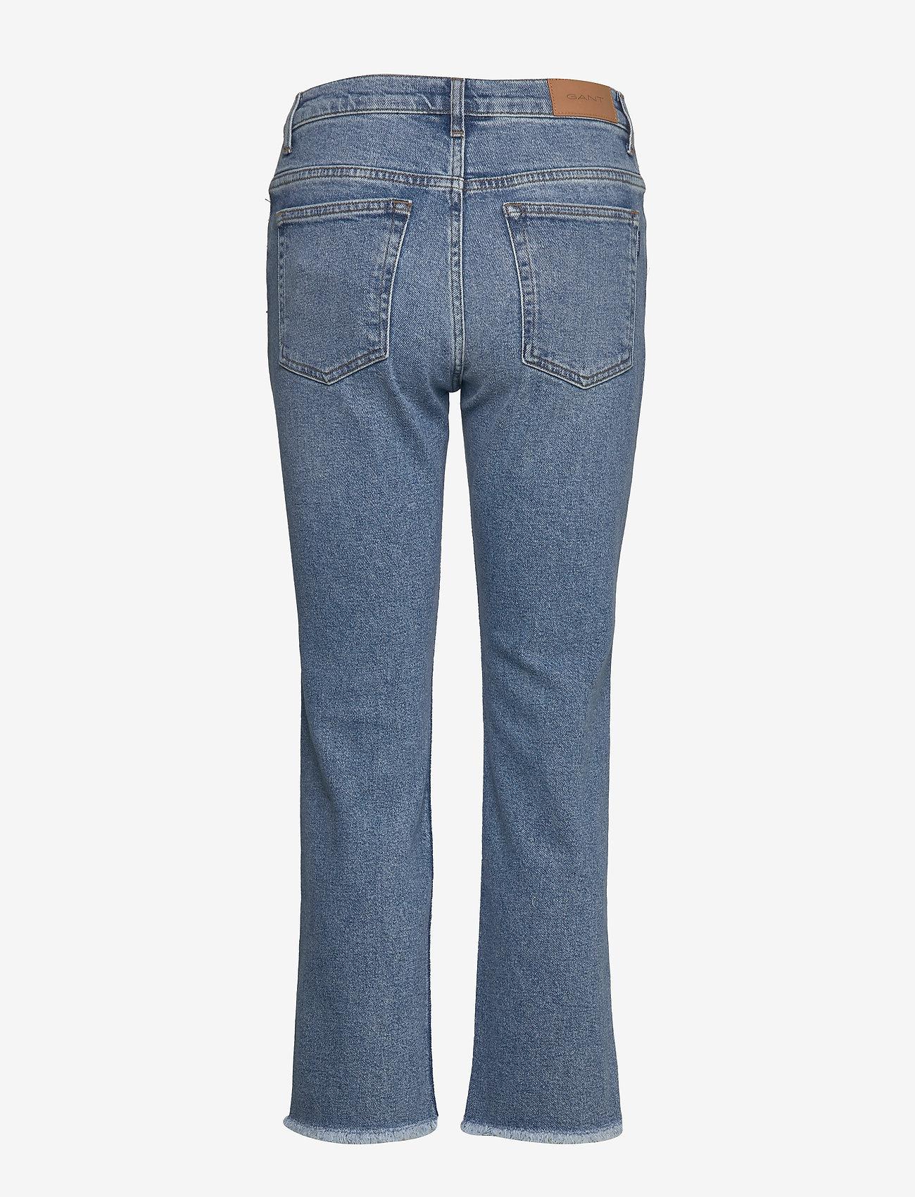 Gant D1. Cropped Authentic Jeans - Light Blue Broken In