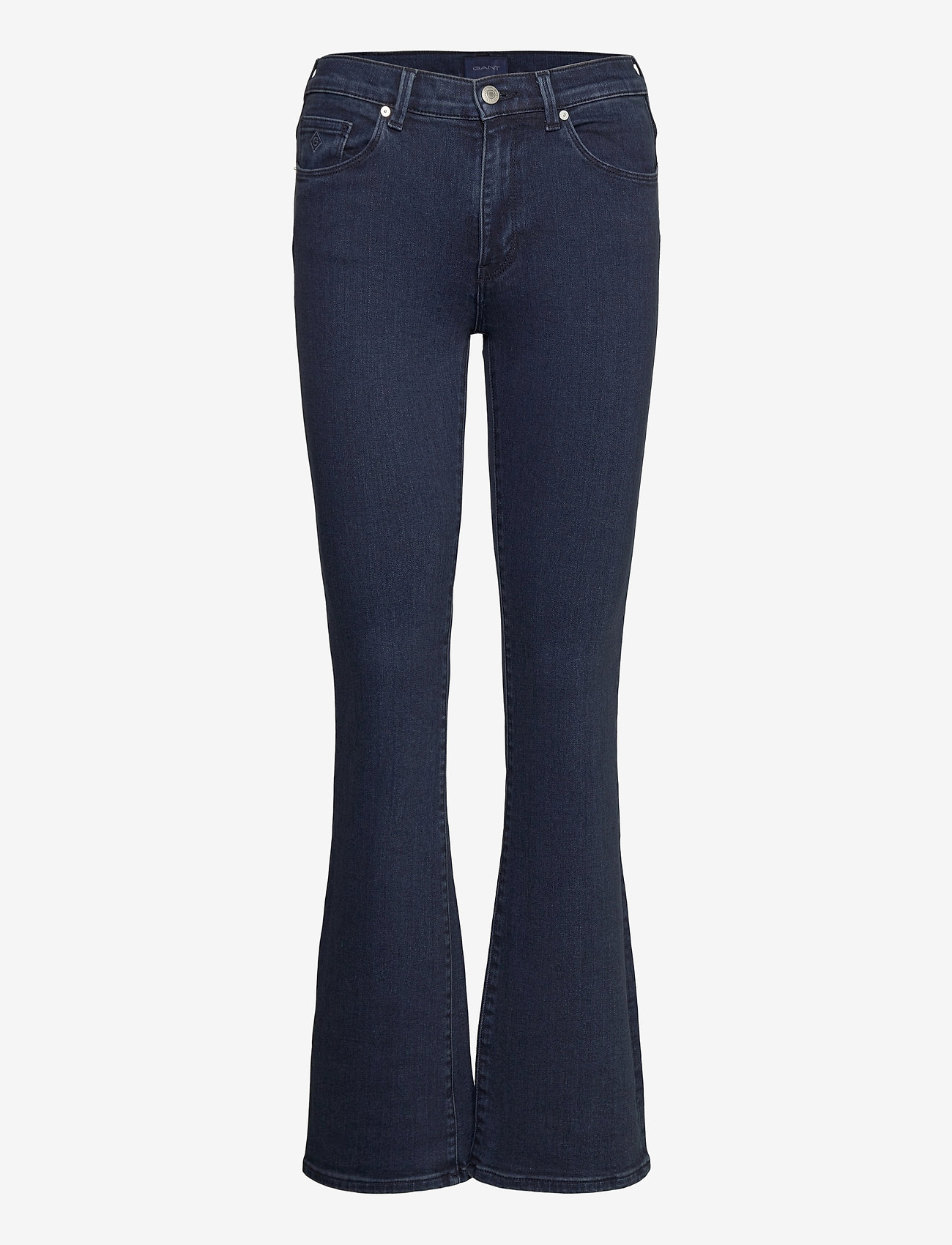 GANT - D1. SLIM BOOTCUT JEANS - boot cut jeans - dark blue broken in - 0