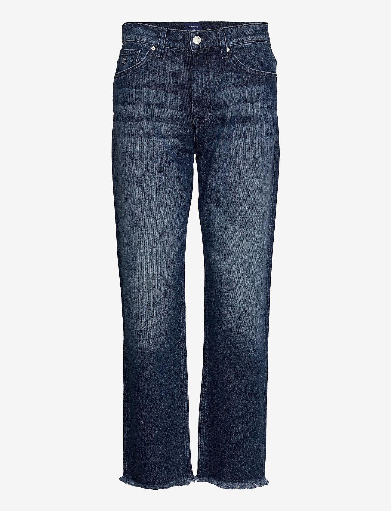 GANT - D1. CROPPED AUTHENTIC JEANS - straight jeans - dark blue broken in - 0