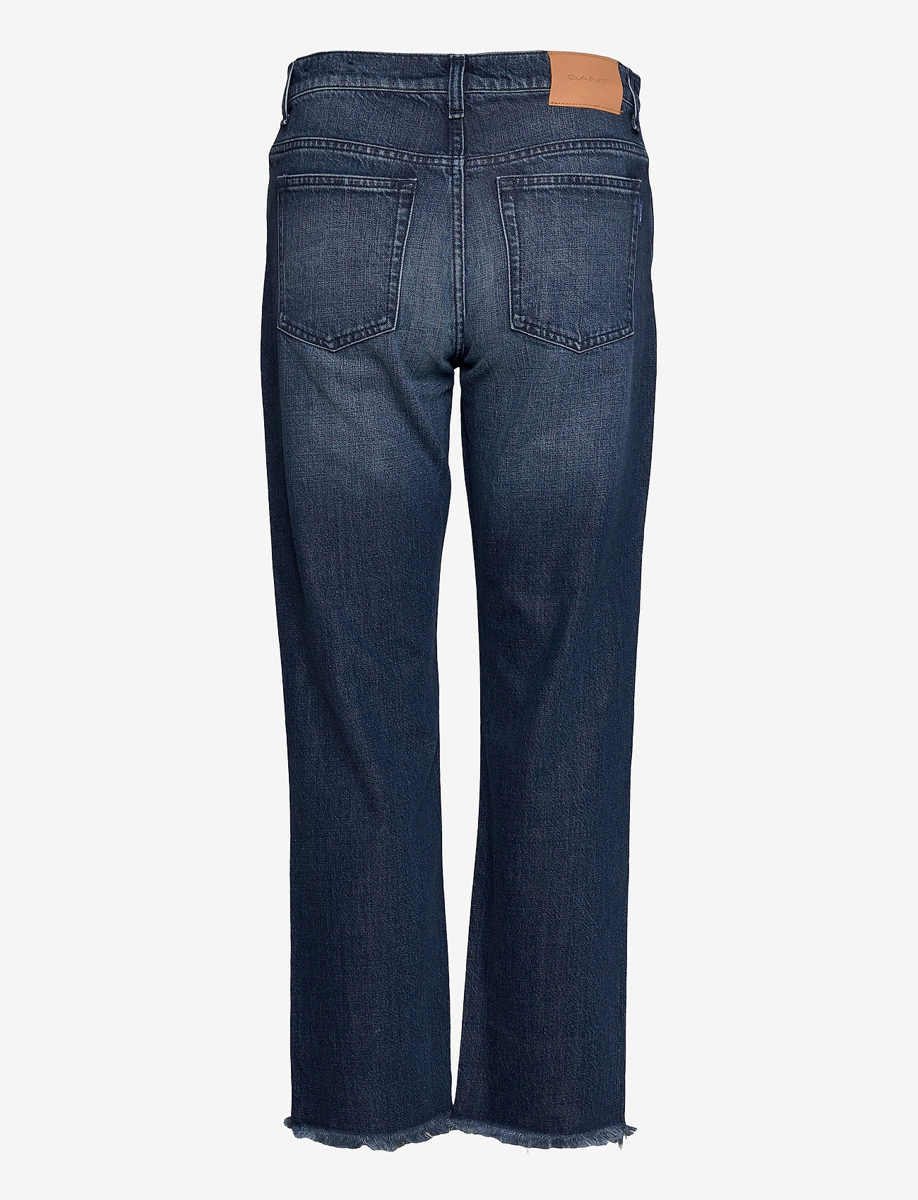 GANT - D1. CROPPED AUTHENTIC JEANS - straight jeans - dark blue broken in - 1