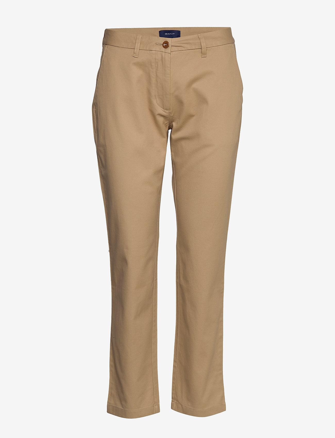 Gant - CLASSIC CHINO - straight leg trousers - dark khaki