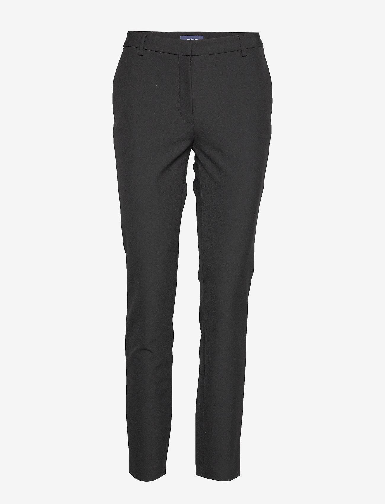 Gant - D1. STRETCH TAPERED PANT - suorat housut - black