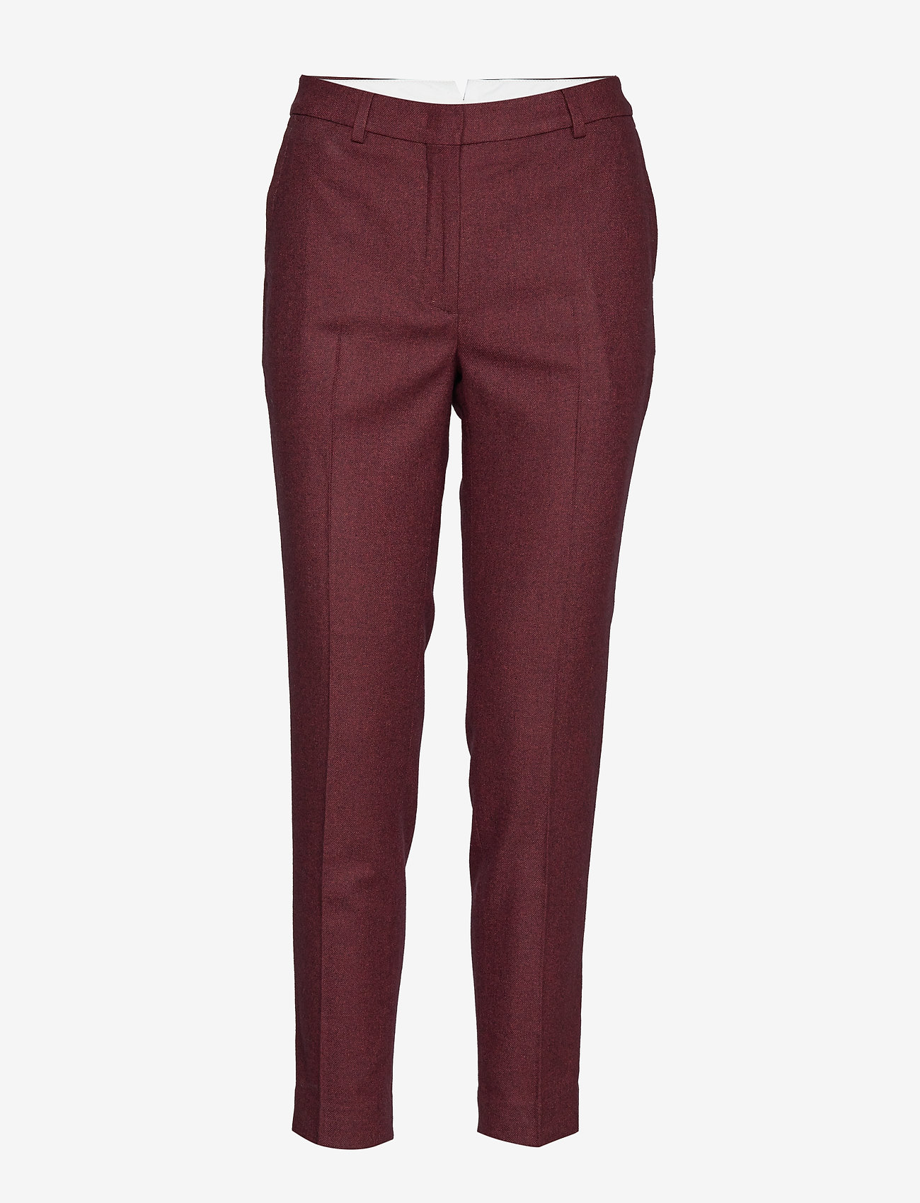 Gant - D1. WASHABLE STR WOOL TAPERED PANT - slim fit housut - mahogny red