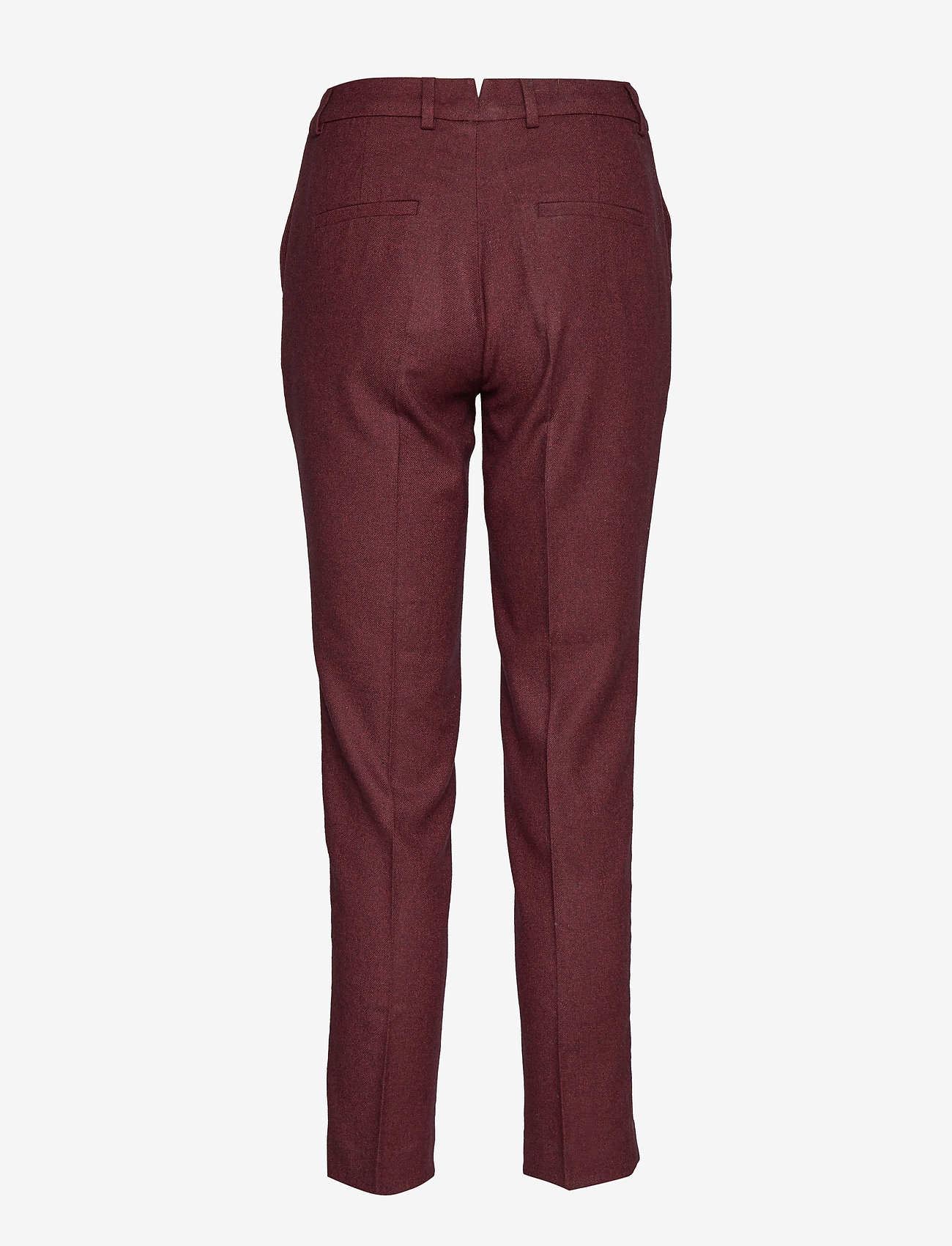 GANT - D1. WASHABLE STR WOOL TAPERED PANT - slim fit-byxor - mahogny red - 1