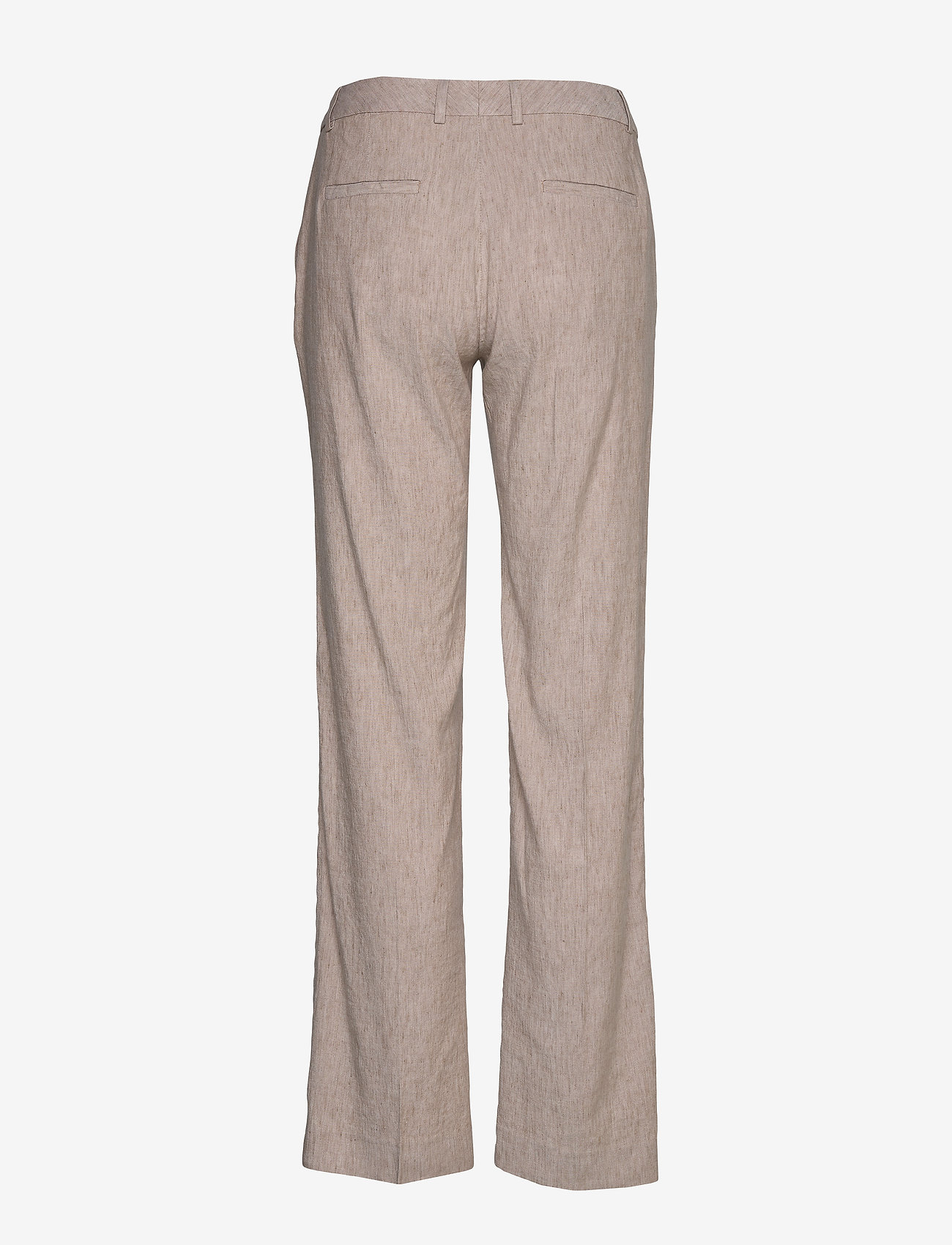 Gant - D2. STRETCH LINEN SLIM SLOUCH PANT - pantalons droits - dark khaki