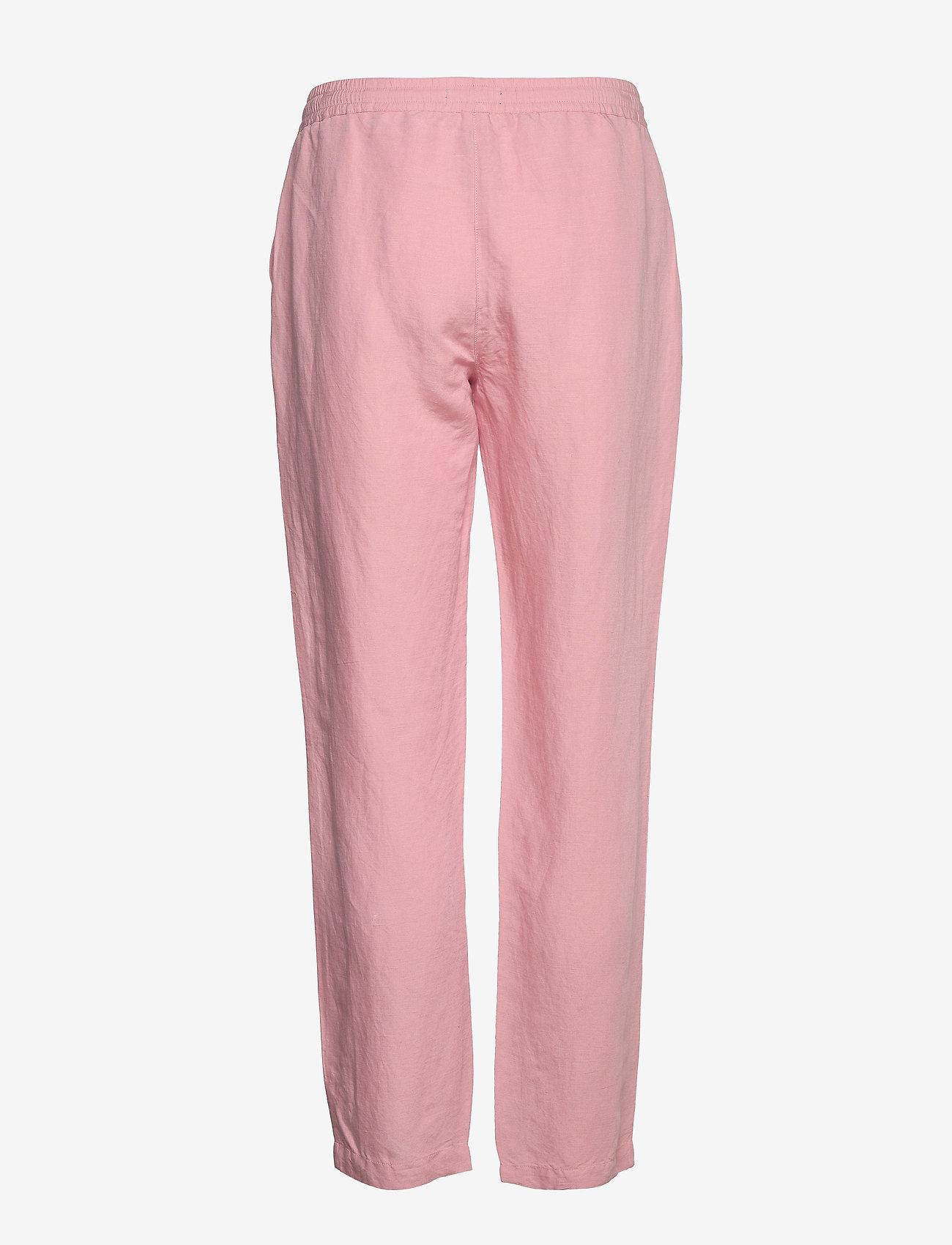 Gant - D2. SUMMER LINEN PULL-ON PANT - pantalons droits - summer rose