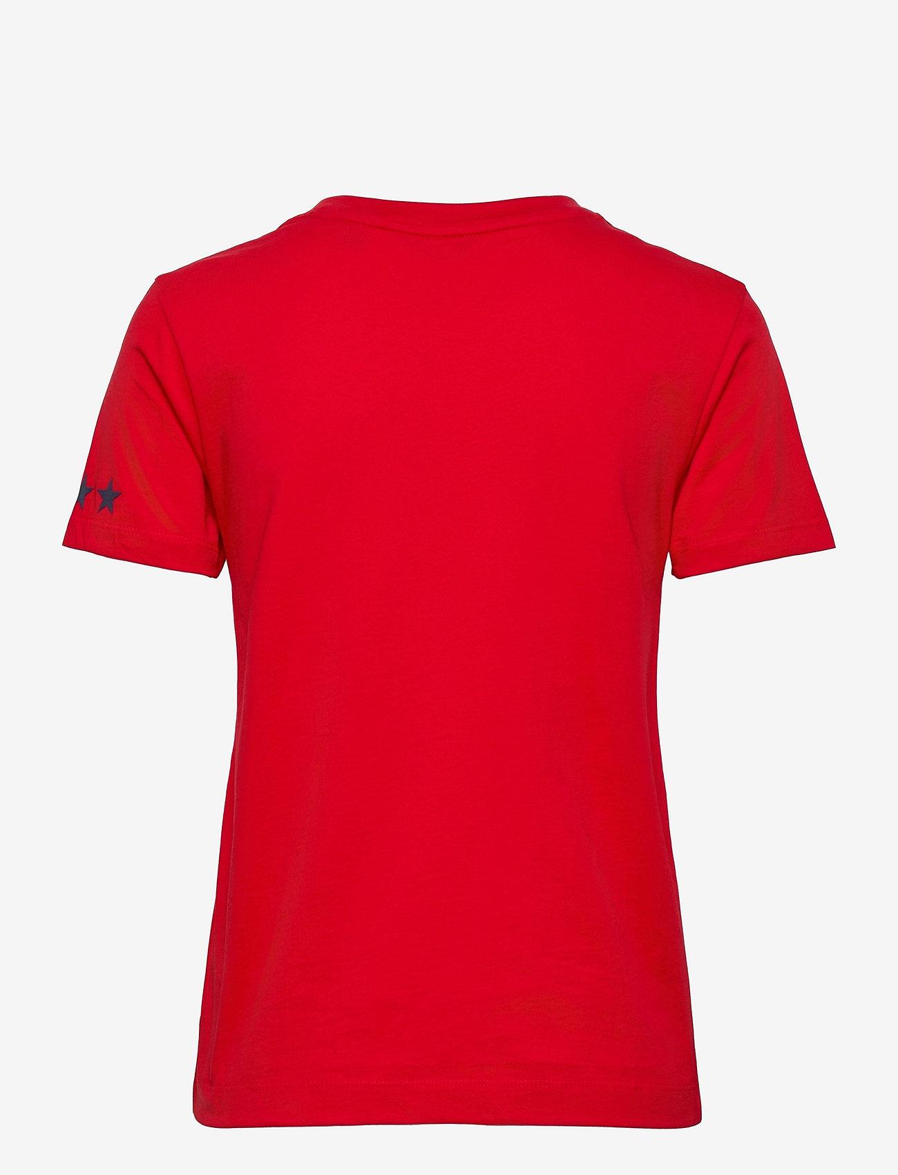 GANT - D2.GANT RETRO SHIELD SS T-SHIRT - t-shirts - bright red - 1