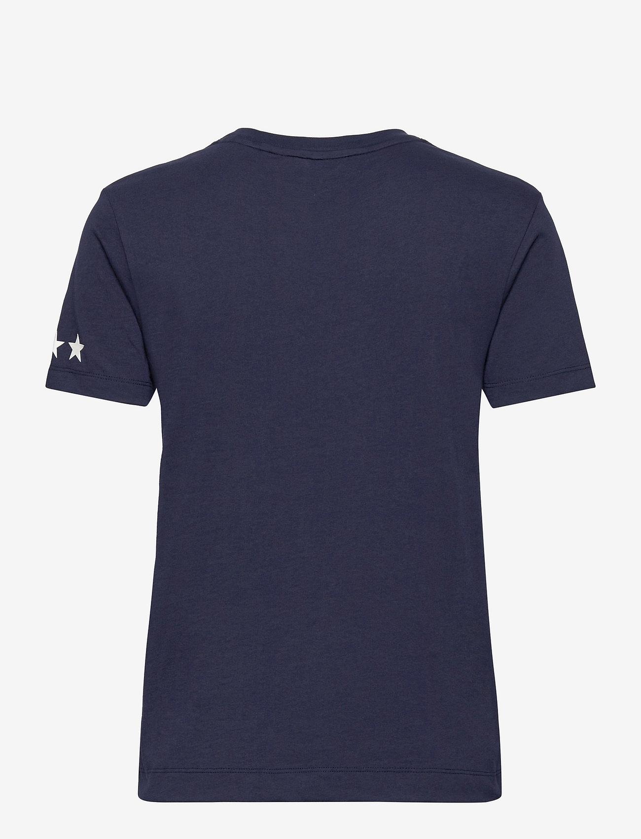GANT - D2.GANT RETRO SHIELD SS T-SHIRT - t-shirts - classic blue - 1