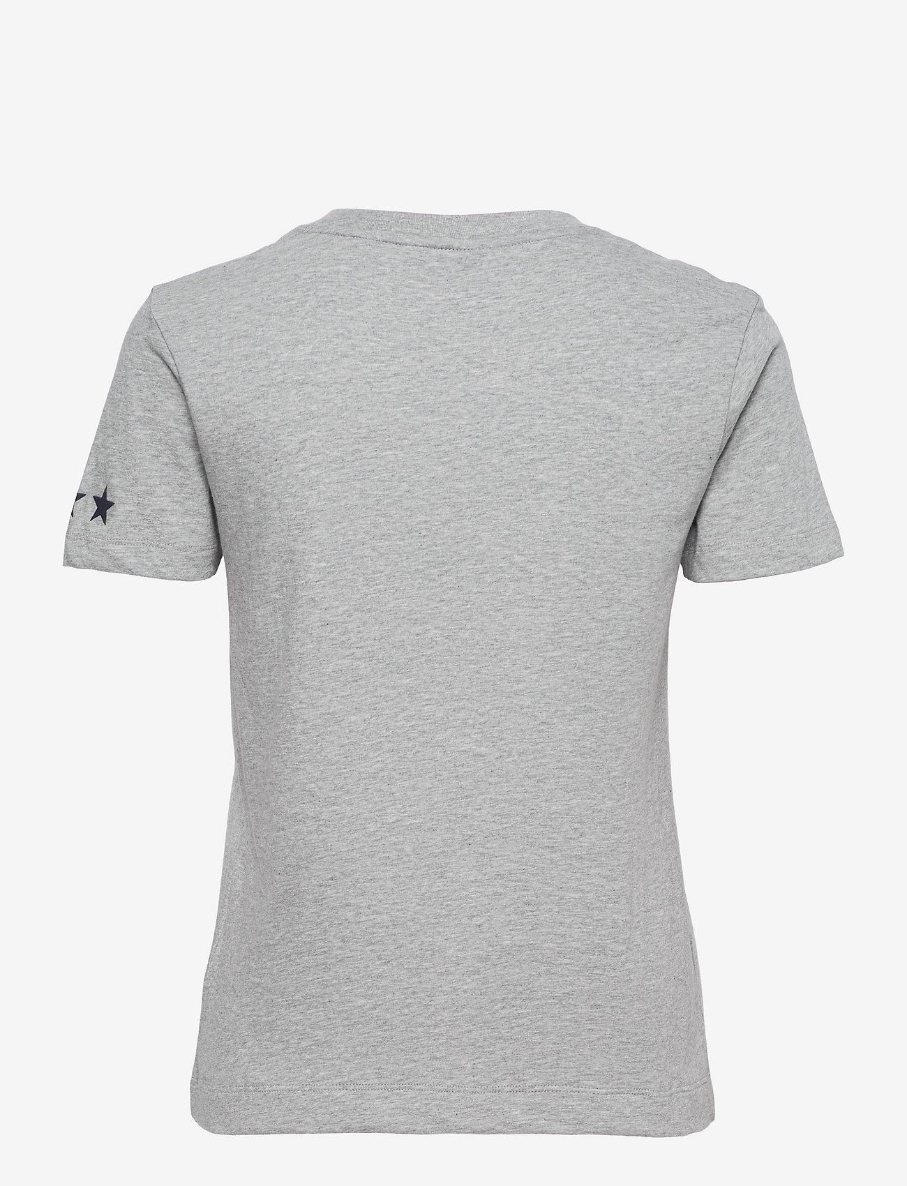 GANT - D2.GANT RETRO SHIELD SS T-SHIRT - t-shirts - grey melange - 1