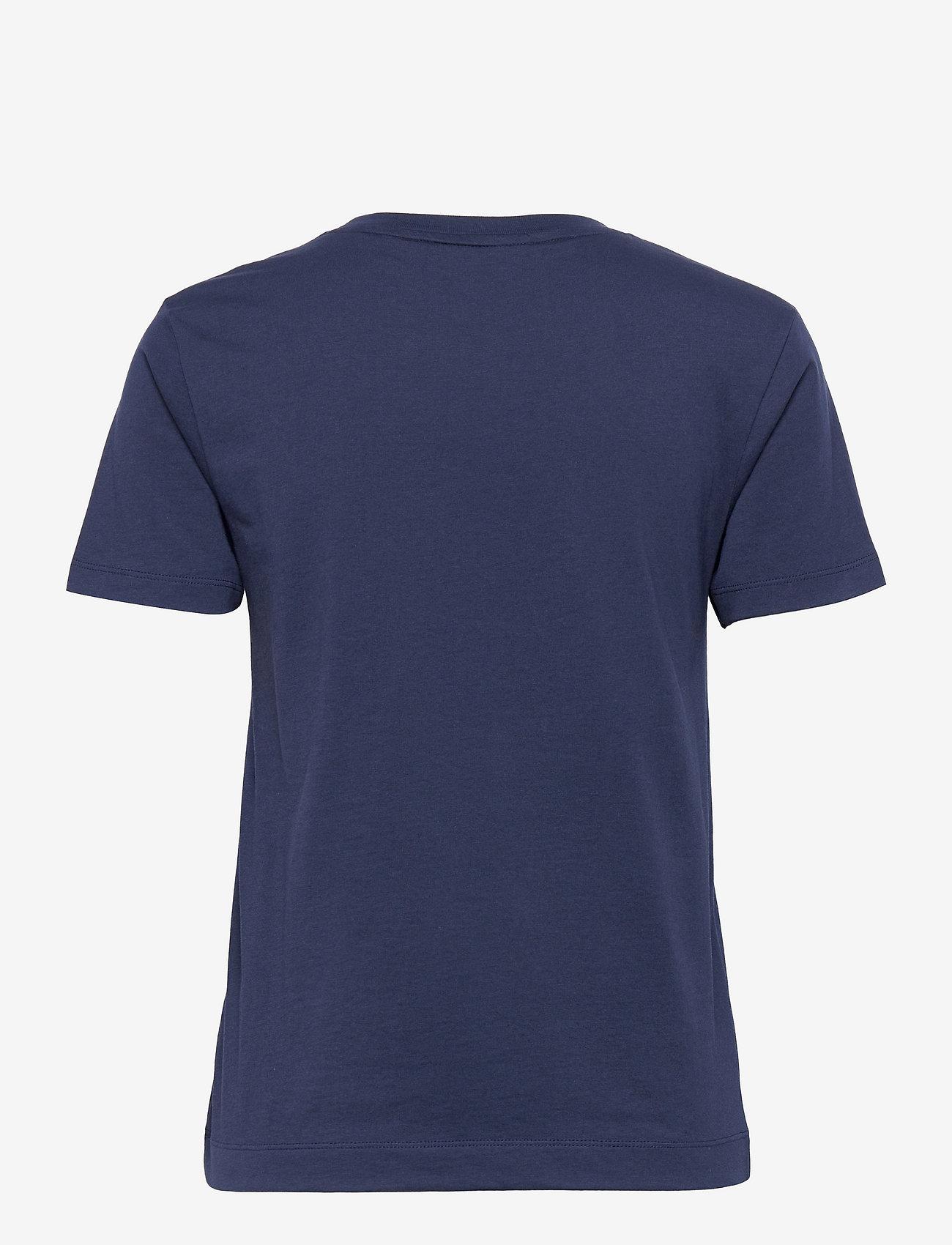 GANT - MD. FALL SS T-SHIRT - t-shirts - evening blue - 1