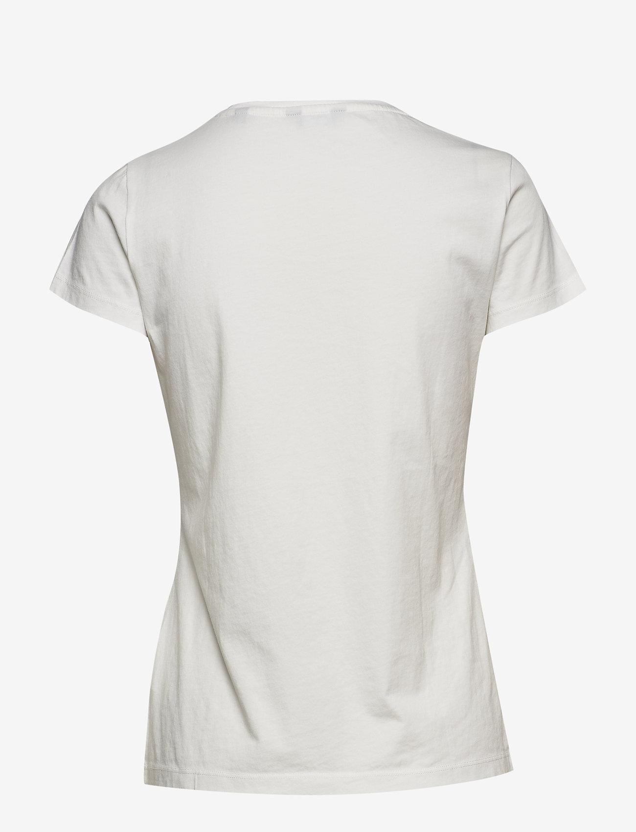 GANT - ARCH LOGO SS T-SHIRT - t-shirts - eggshell - 1