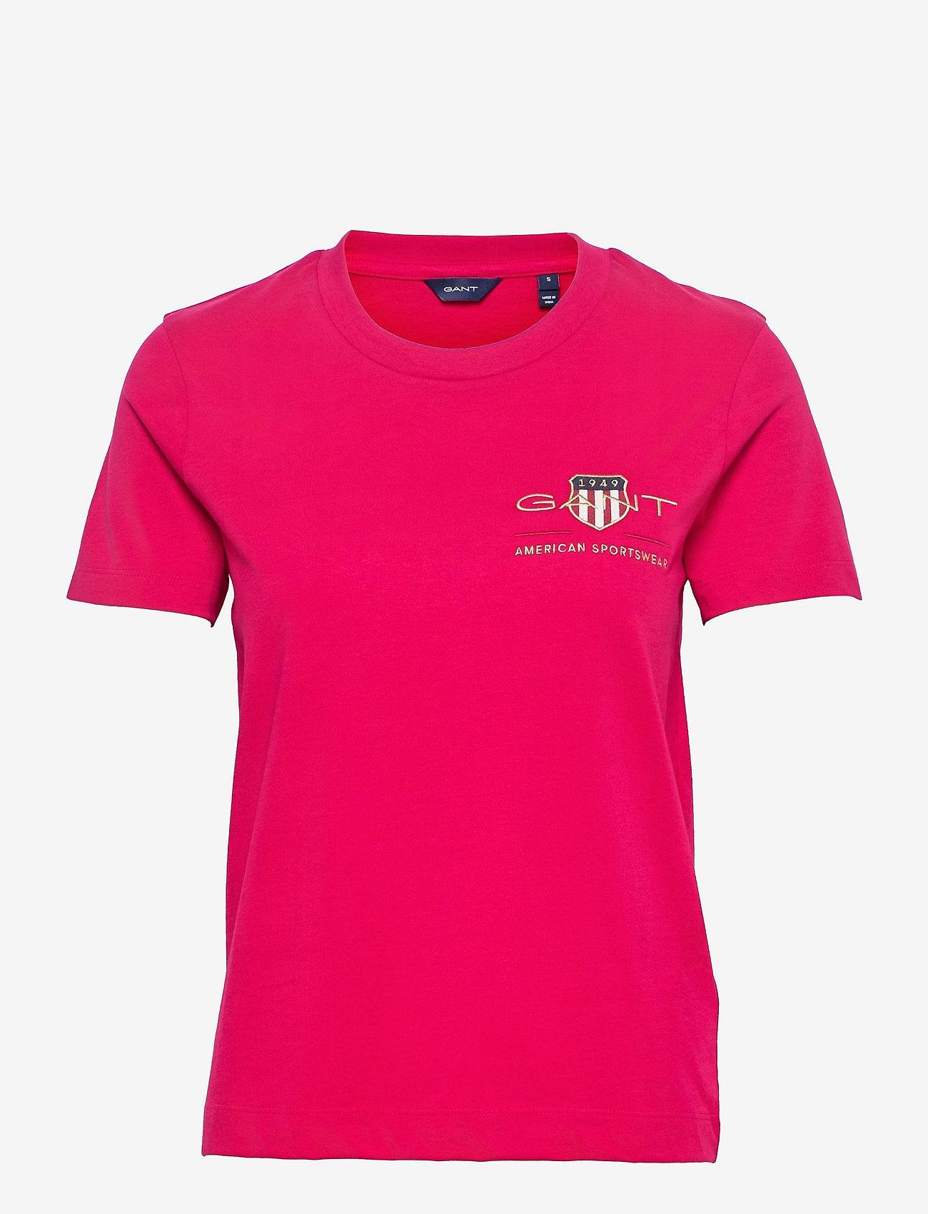 GANT - ARCHIVE SHIELD SS T-SHIRT - t-shirts - raspberry red - 0