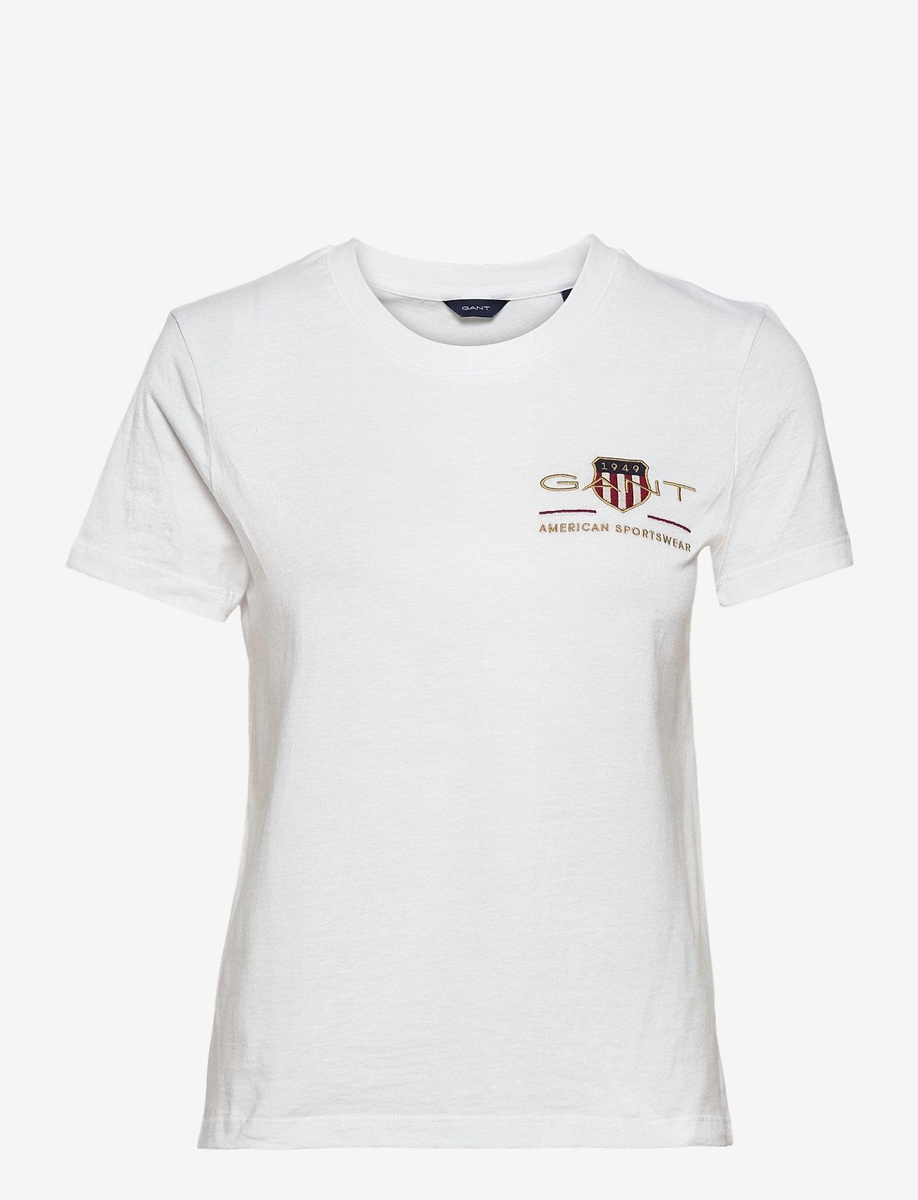 GANT - ARCHIVE SHIELD SS T-SHIRT - t-shirts - white - 0