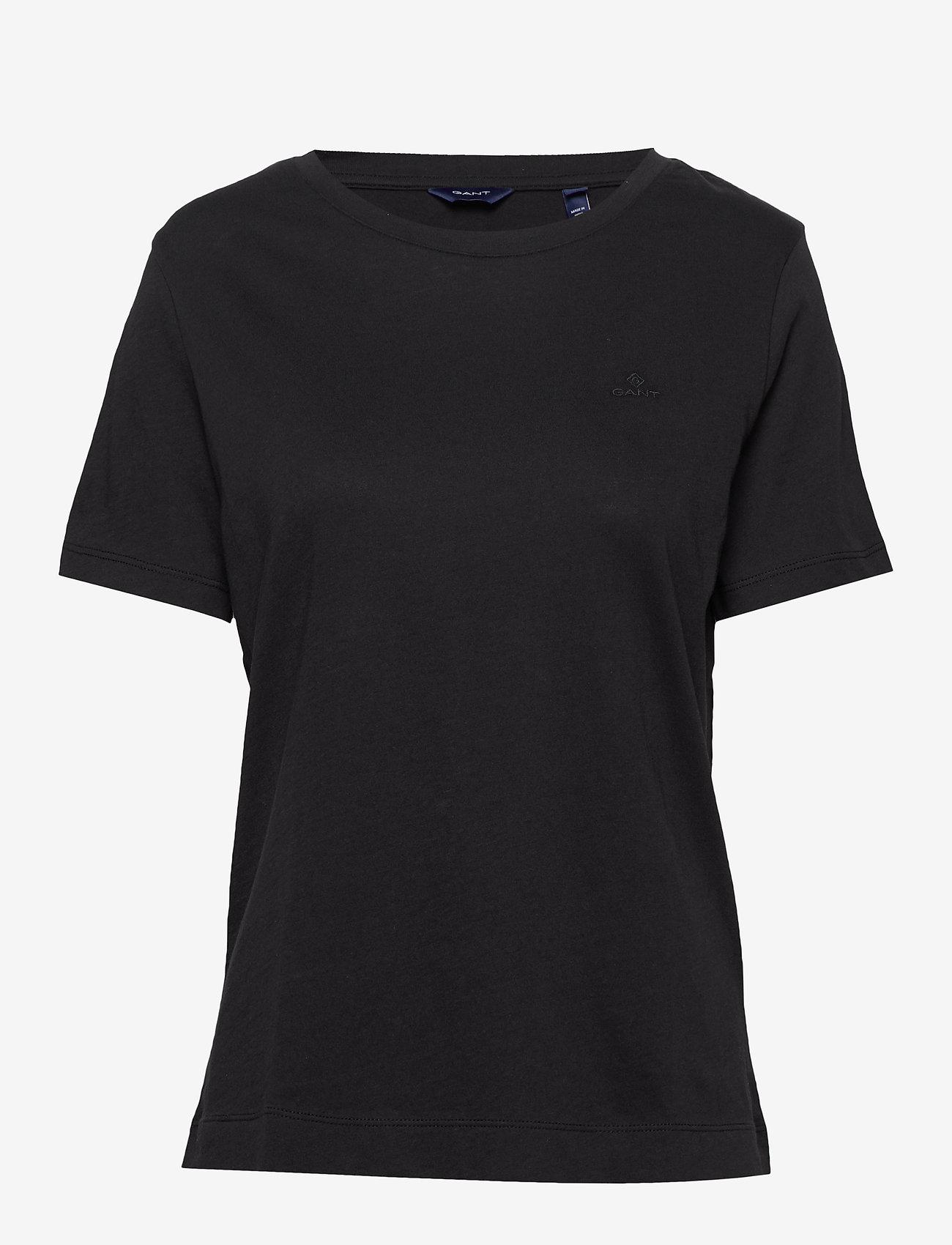 GANT - ORIGINAL SS T-SHIRT - t-shirts - black - 0