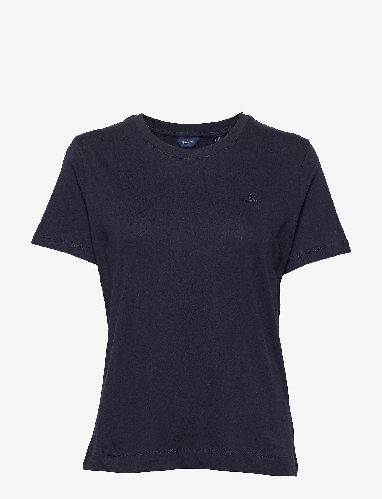 GANT - ORIGINAL SS T-SHIRT - t-shirts - evening blue - 0