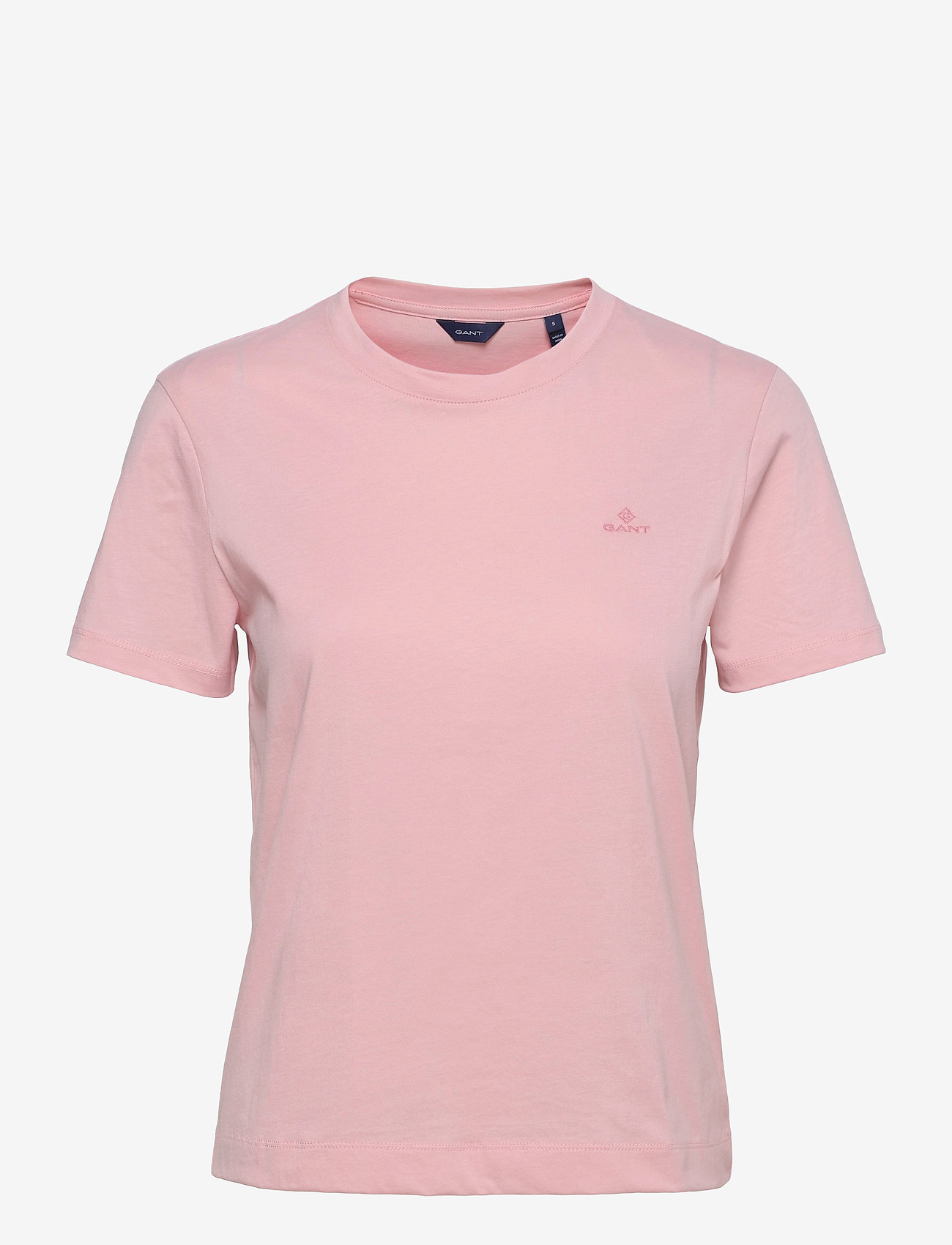 GANT - ORIGINAL SS T-SHIRT - t-shirts - preppy pink - 0