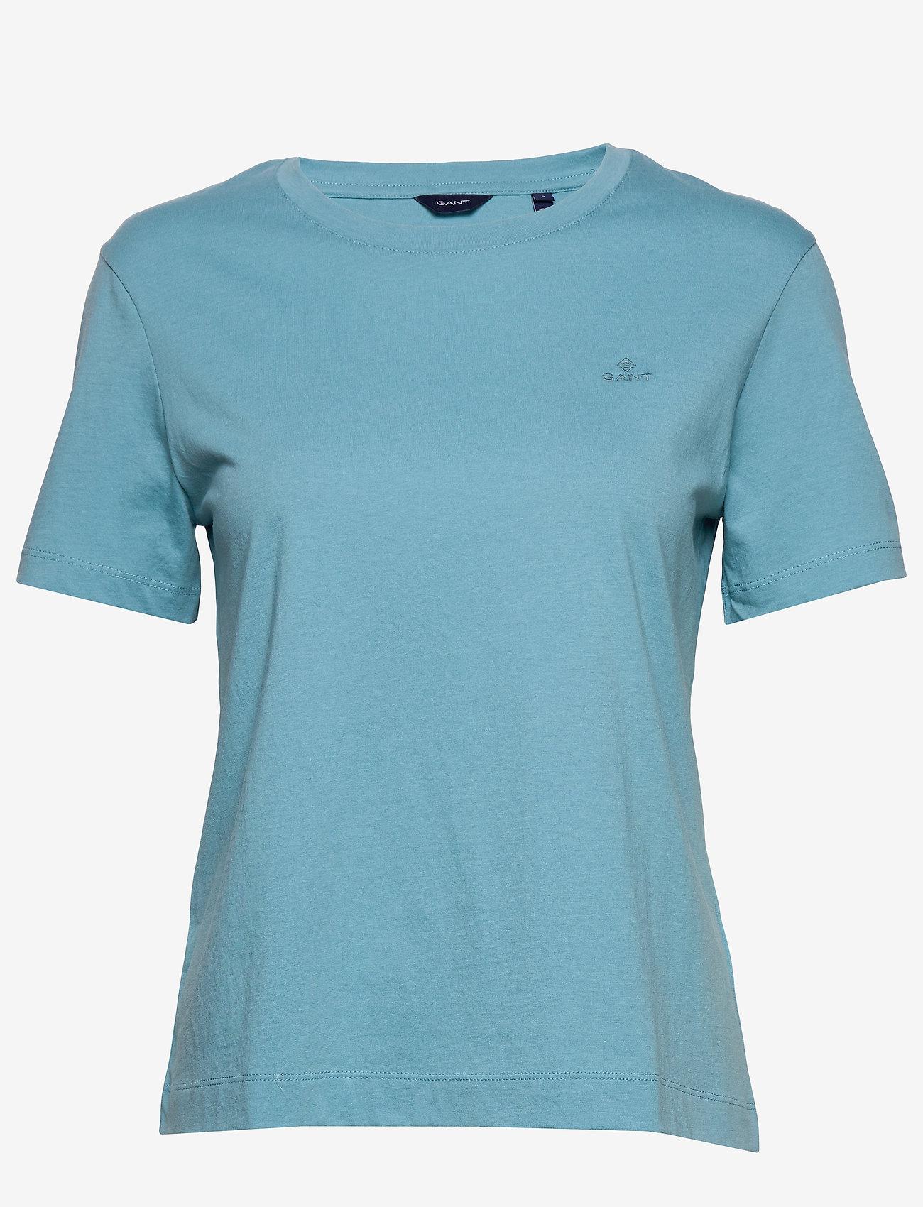 GANT - ORIGINAL SS T-SHIRT - basic t-shirts - seafoam blue - 0