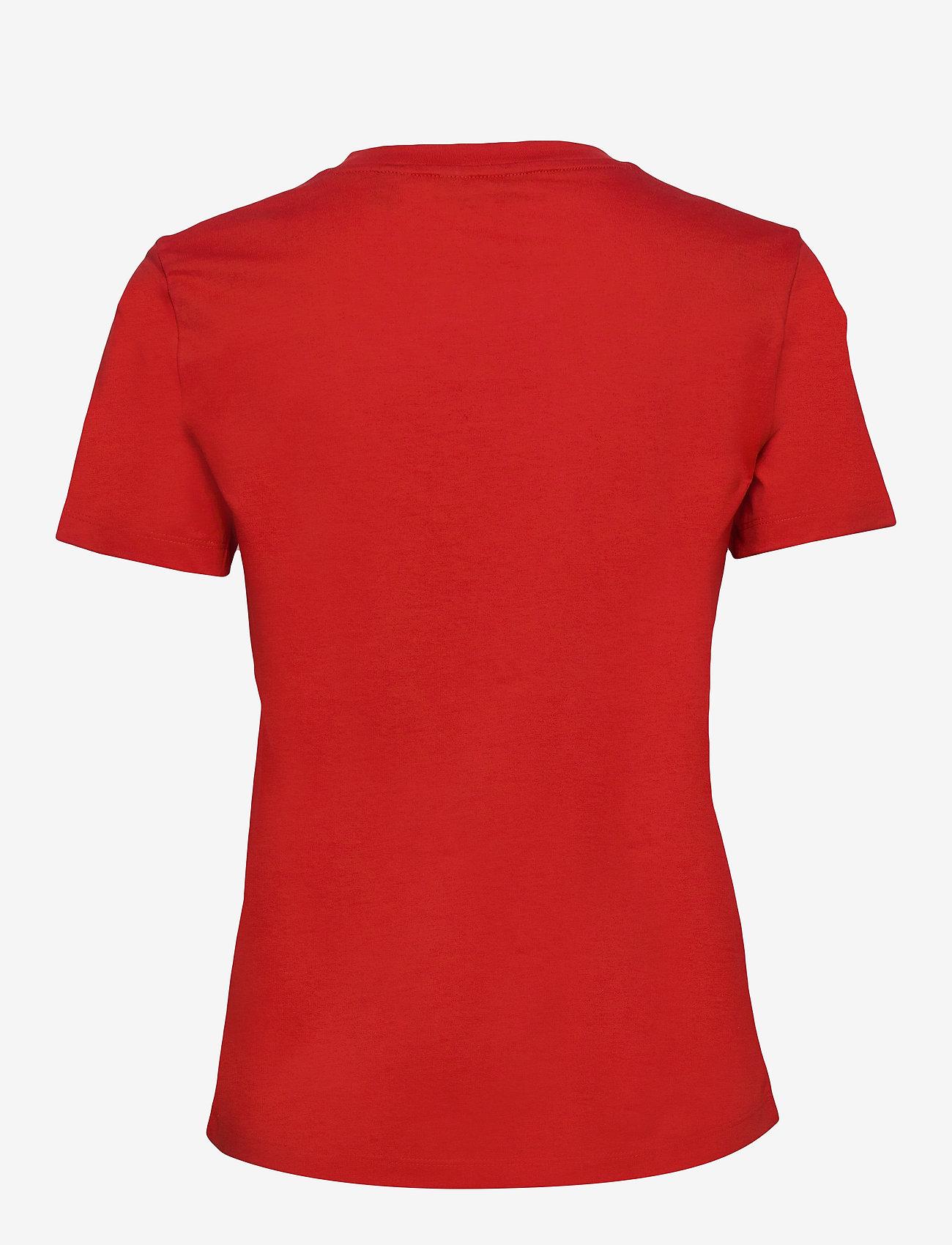 GANT - D1. 13 STRIPES SS T-SHIRT - t-shirts - fiery red - 1