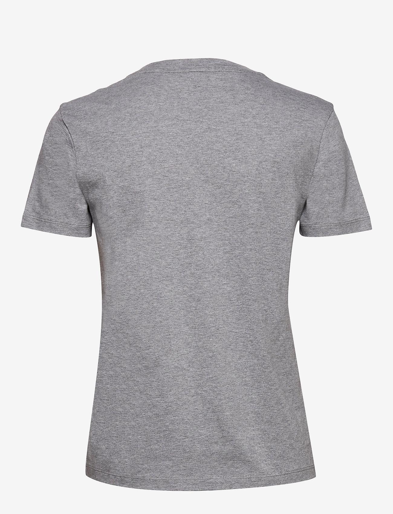 GANT - D1. 13 STRIPES SS T-SHIRT - t-shirts - grey melange - 1