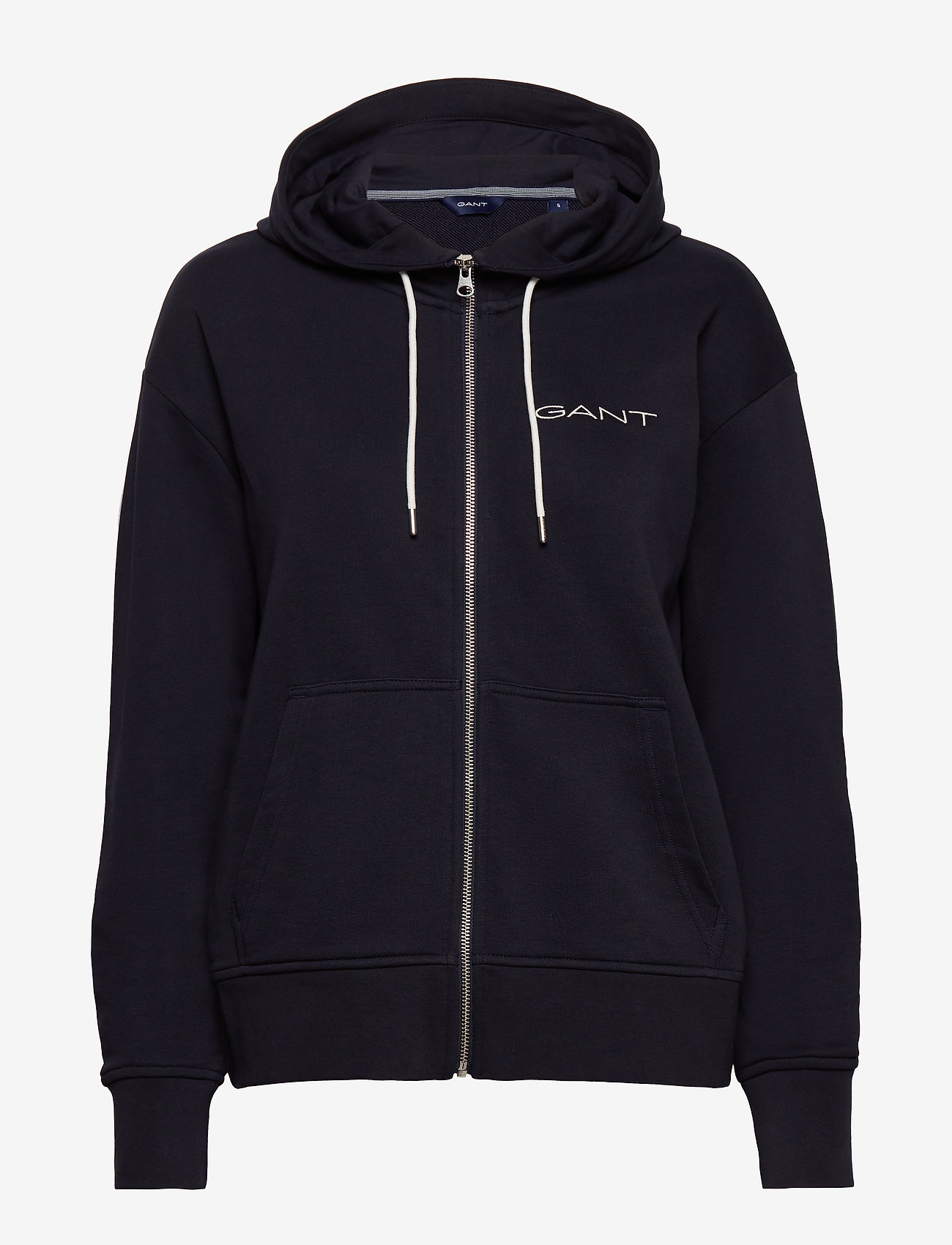 GANT - D1. 13 STRIPES FULL ZIP HOODIE - hoodies - evening blue - 0