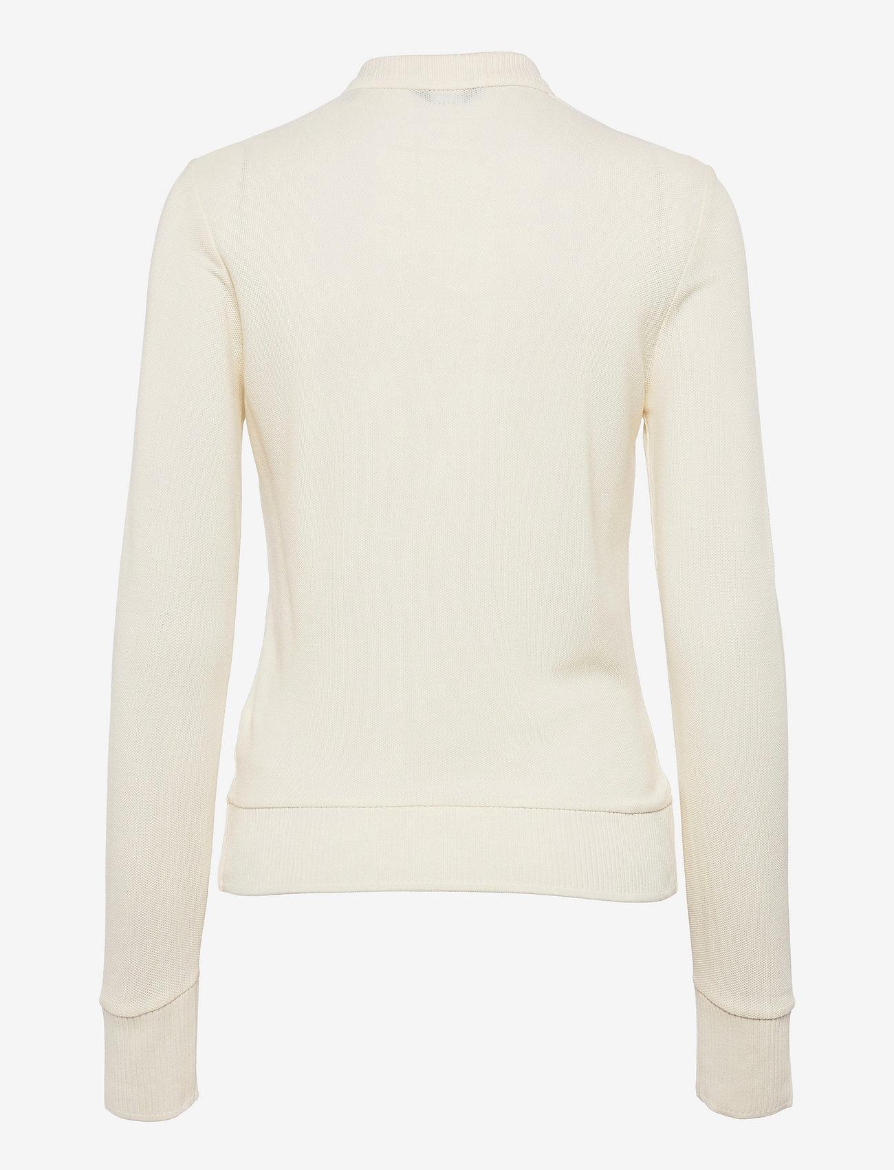 GANT - D1. CROWN EMBROIDERY POLO PIQUE - t-shirt & tops - cream - 1