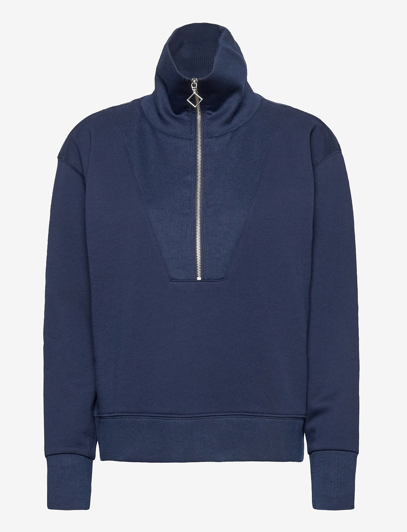 GANT - D1. HALF ZIP SWEAT - sweatshirts - evening blue - 0