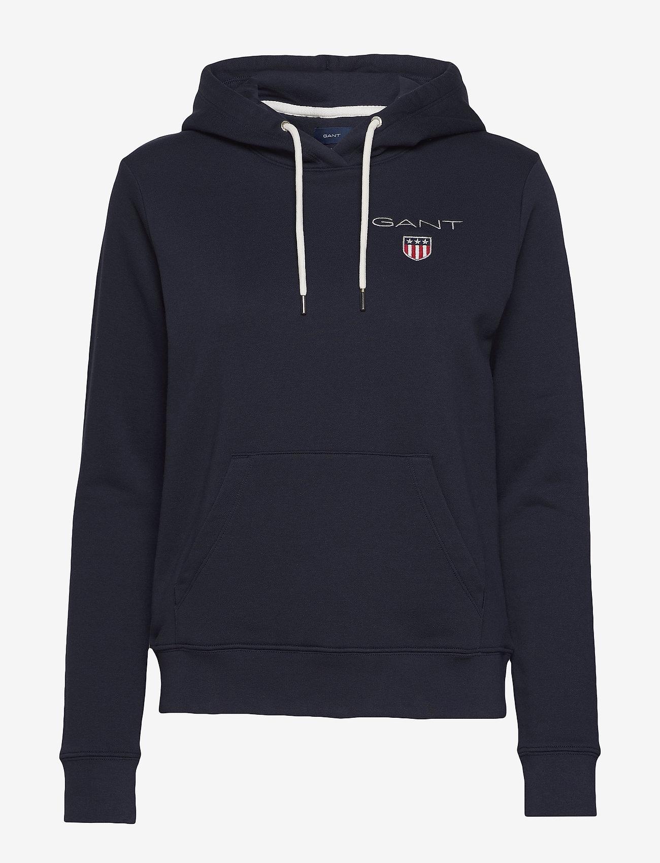 Gant - D1. MEDIUM SHIELD HOODIE - hoodies - evening blue
