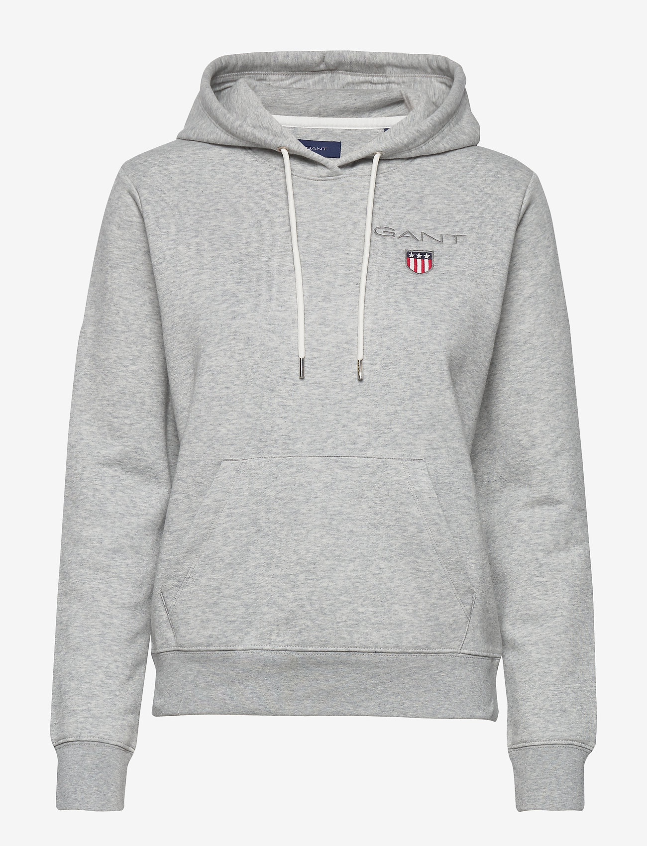 Gant - D1. MEDIUM SHIELD HOODIE - hoodies - light grey melange