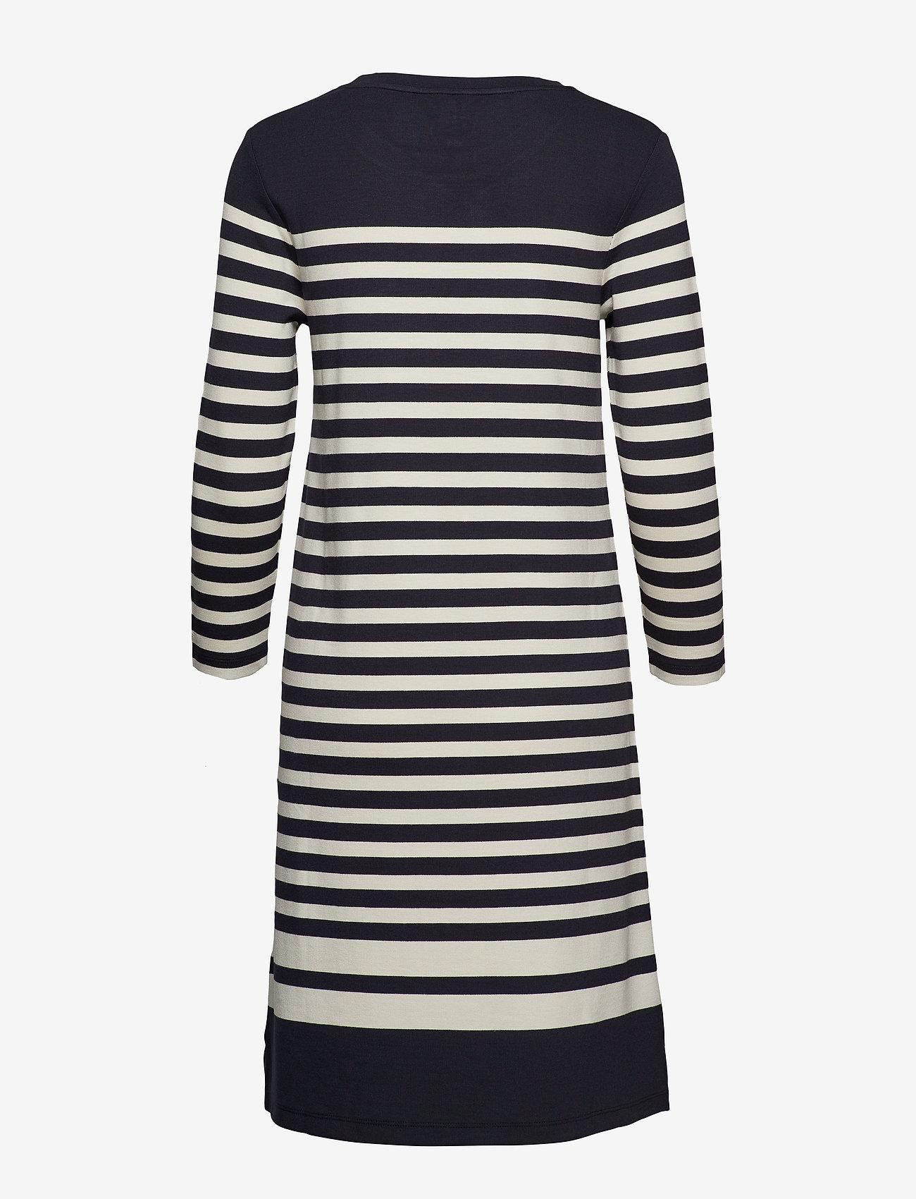 Gant - D1. STRIPED SHIFT DRESS - midimekot - evening blue
