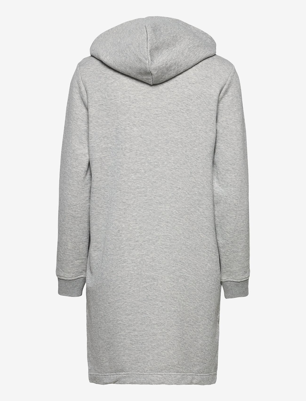 GANT - D1. ARCHIVE SHIELD HOODIE DRESS - short dresses - grey melange - 1