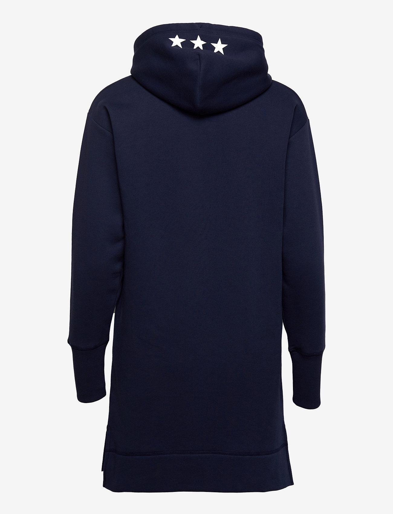 GANT - D2. GANT RETRO SHIELD HOODIE DRESS - t-shirt dresses - classic blue - 1