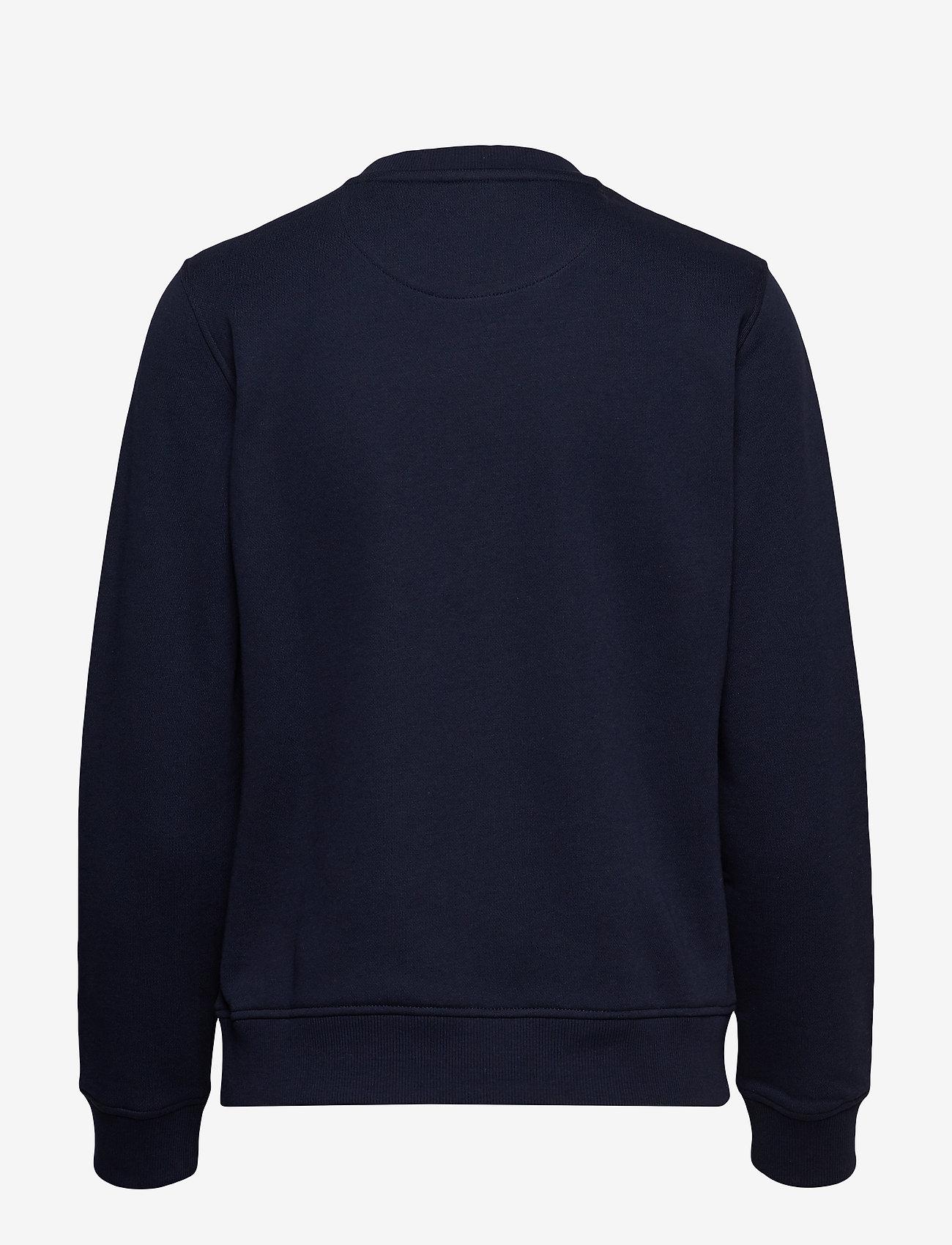 Gant - GANT LOCK UP C-NECK SWEAT - sweatshirts - evening blue