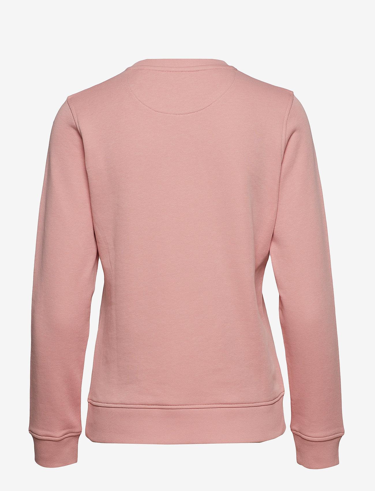 Gant - GANT LOCK UP C-NECK SWEAT - sweatshirts - summer rose