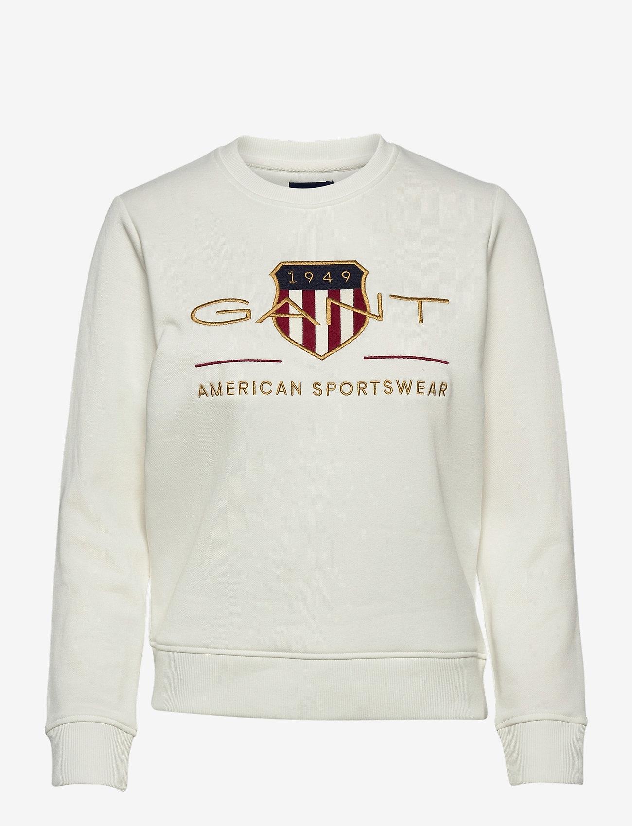 GANT - ARCHIVE SHIELD C-NECK SWEAT - sweatshirts - eggshell - 0