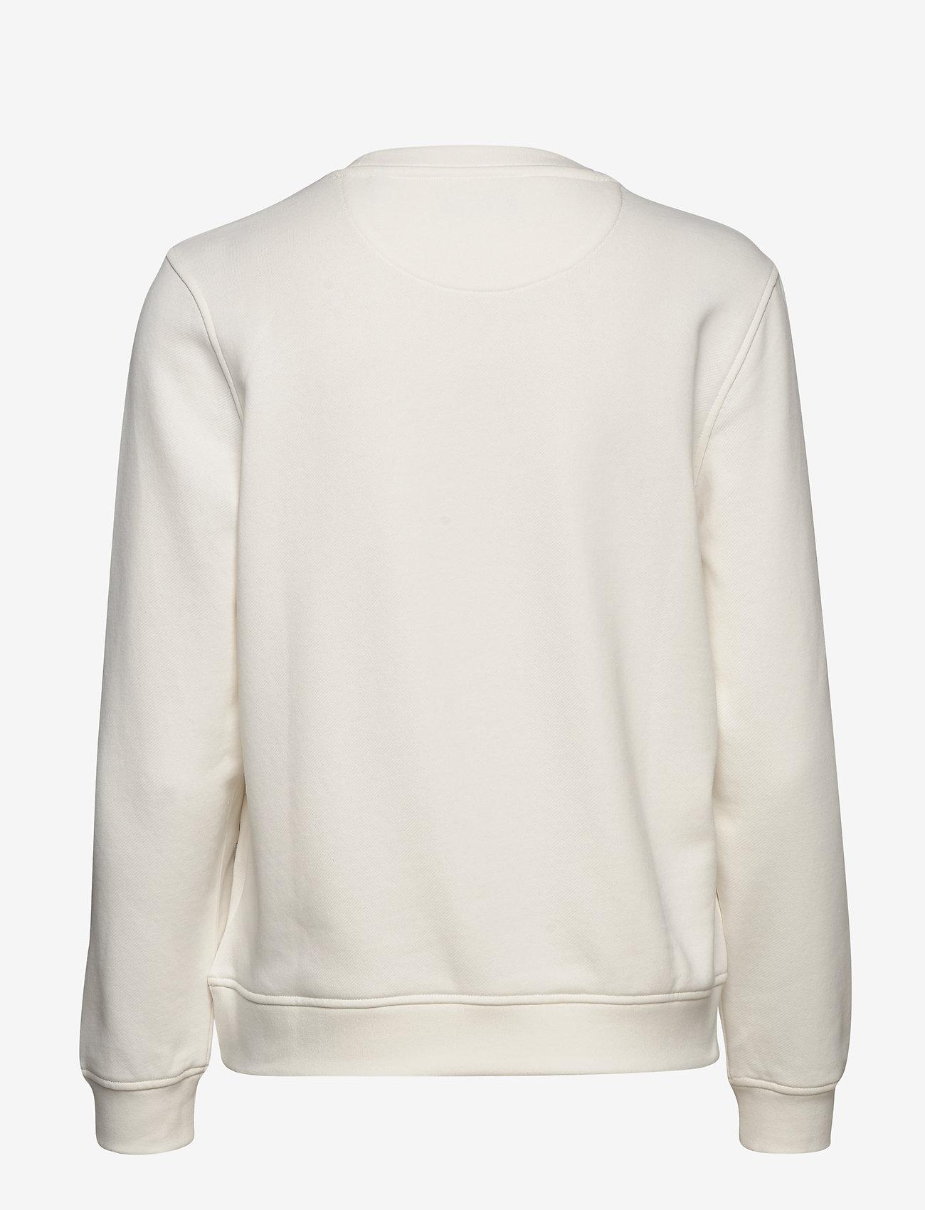 GANT - ARCH LOGO C-NECK SWEAT - sweatshirts - eggshell - 1