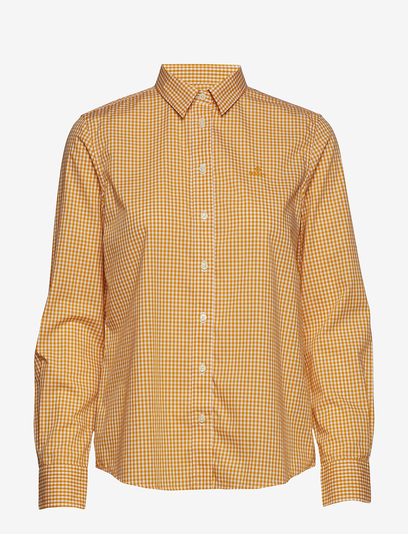 Gant - THE BROADCLOTH GINGHAM SHIRT - pitkähihaiset paidat - ivy gold