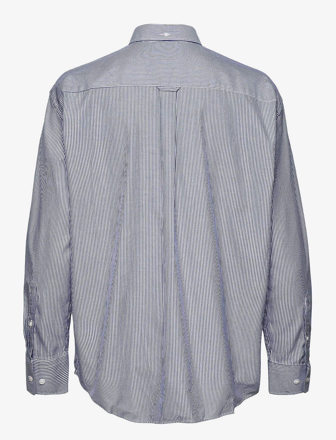 GANT - PPO OXF STRIPE RELAXED SHIRT - long-sleeved shirts - crisp blue - 1