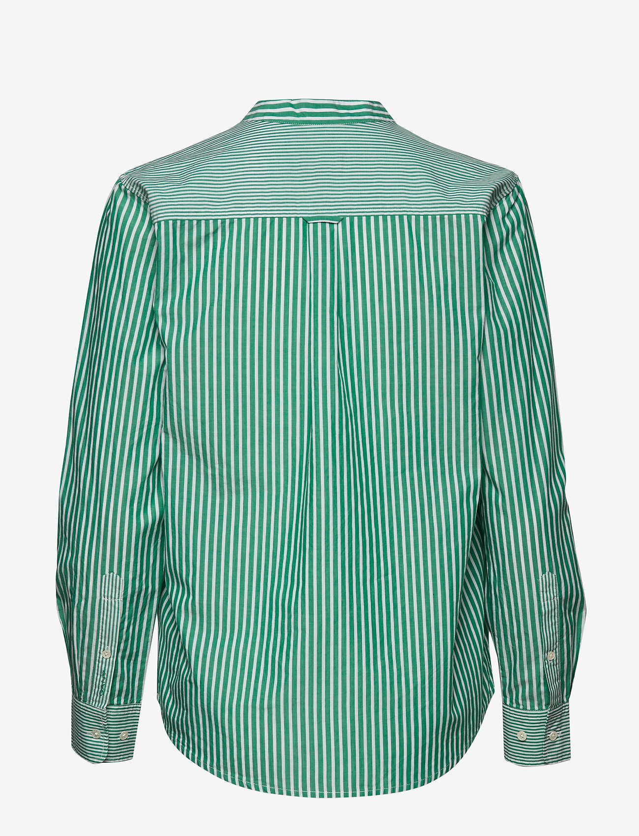 GANT - O1. PREPPY STRIPED POPOVER SHIRT - long sleeved blouses - emerald green - 1