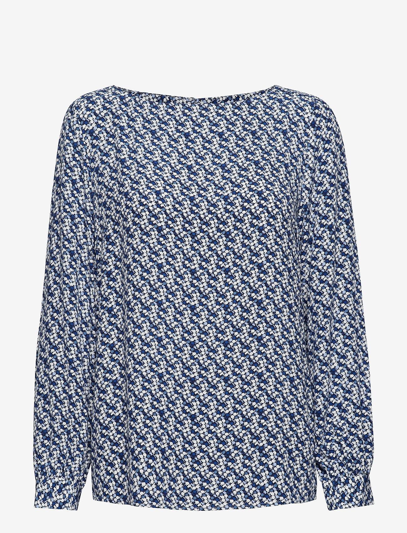 Gant - D1. AUTUMN PRINT VISCOSE BLOUSE - pitkähihaiset puserot - crisp blue