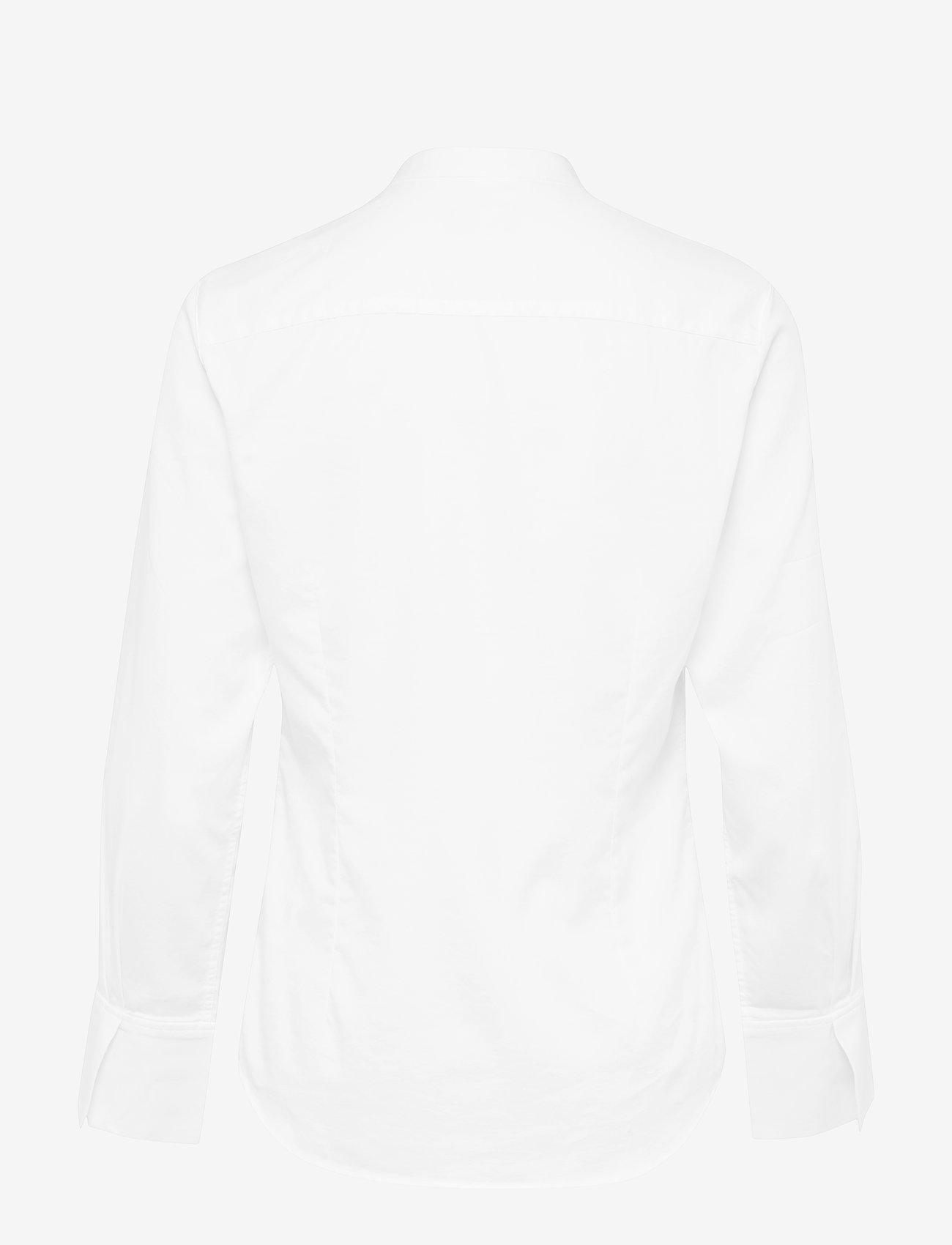 Gant - D2. TP RUFFLE TUX SHIRT - pitkähihaiset paidat - white