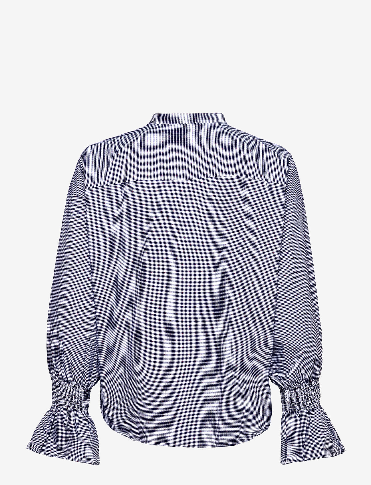 GANT - D1. TP SMOCK SLEEVE CHECK SHIRT - long-sleeved shirts - crisp blue - 1