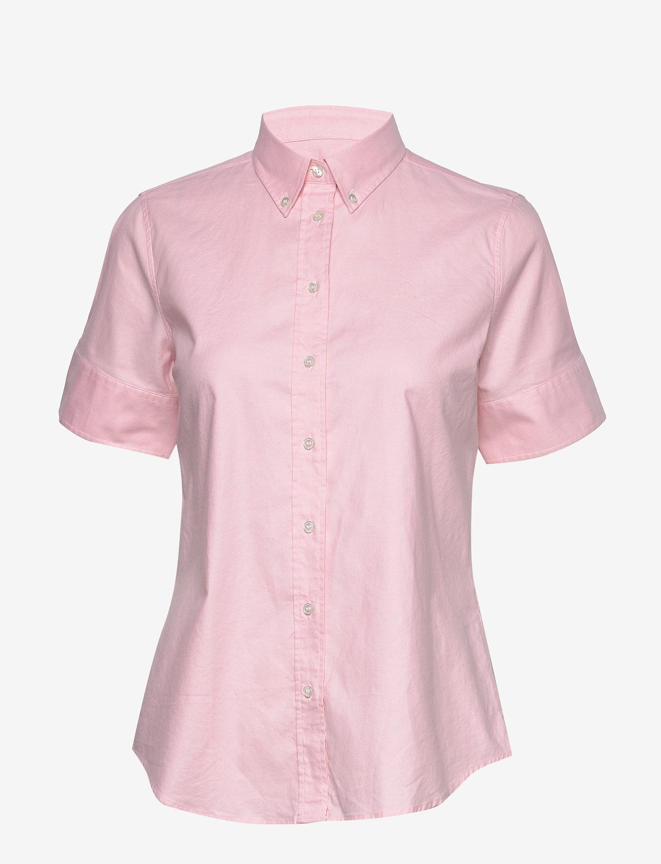 GANT - STRETCH OXFORD SOLID SS SHIRT - overhemden met korte mouwen - light pink - 0
