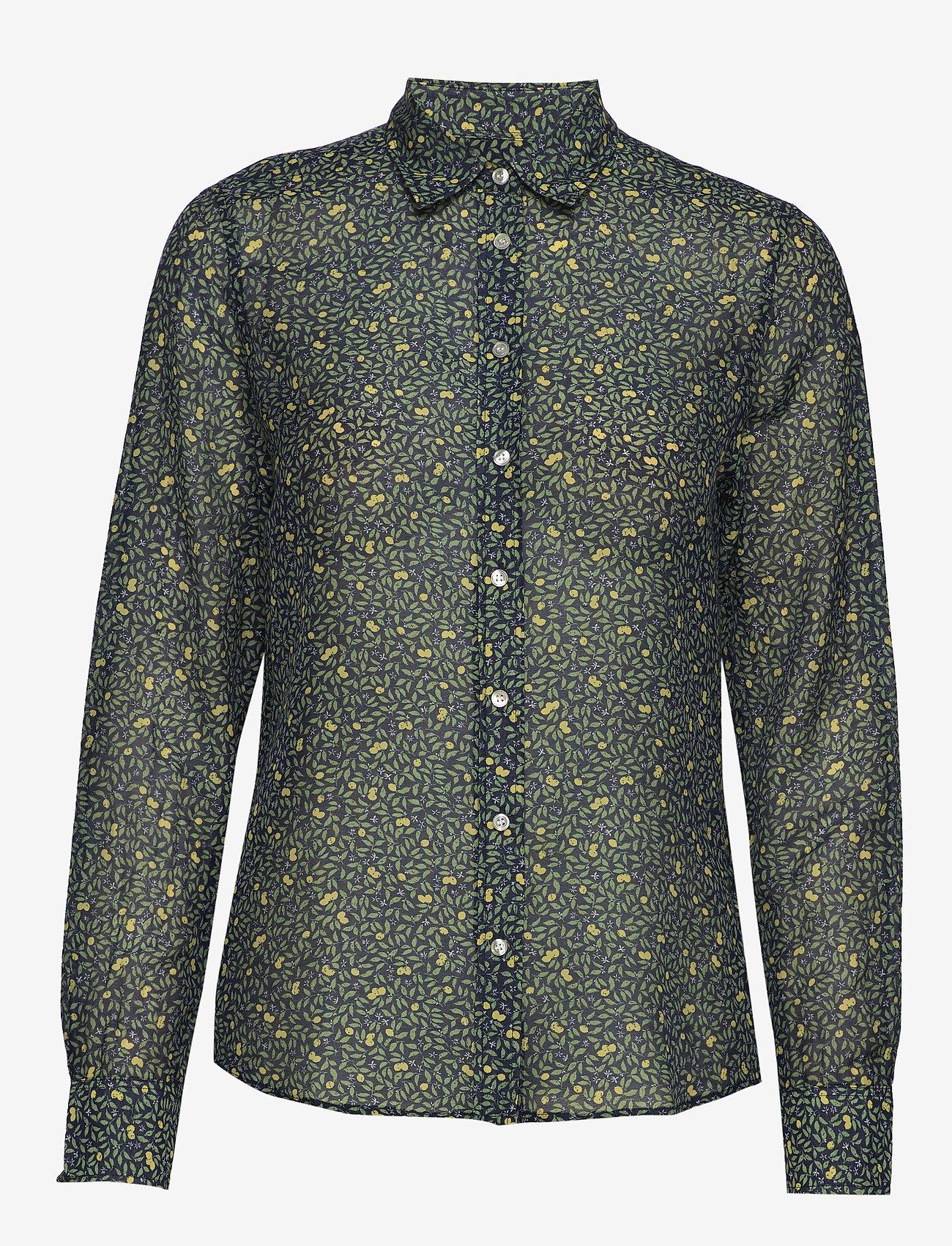 Gant - D2. LEMONADE COTTON SILK SHIRT - blouses à manches longues - insignia blue