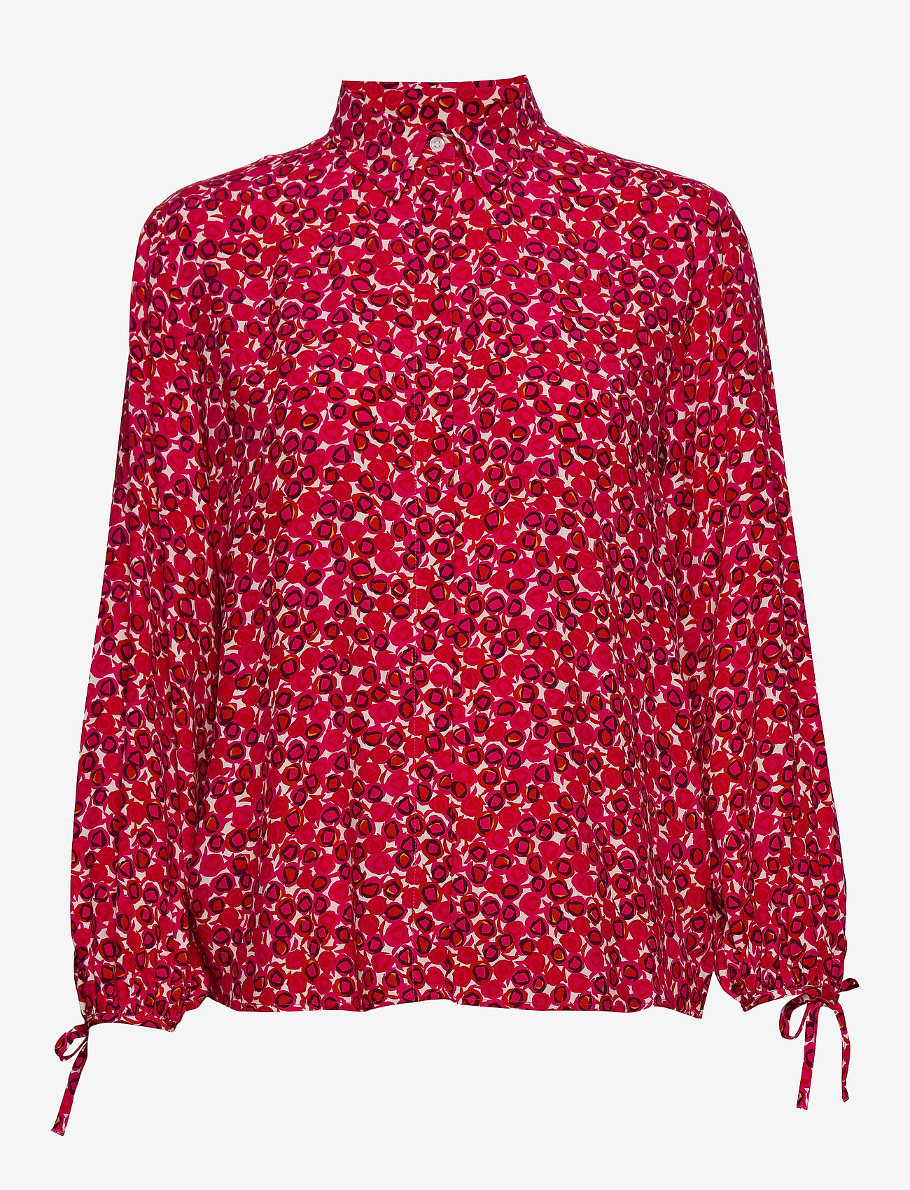 GANT - D1. DESERT ROSE VISCOSE SHIRT - long sleeved blouses - rich pink - 0