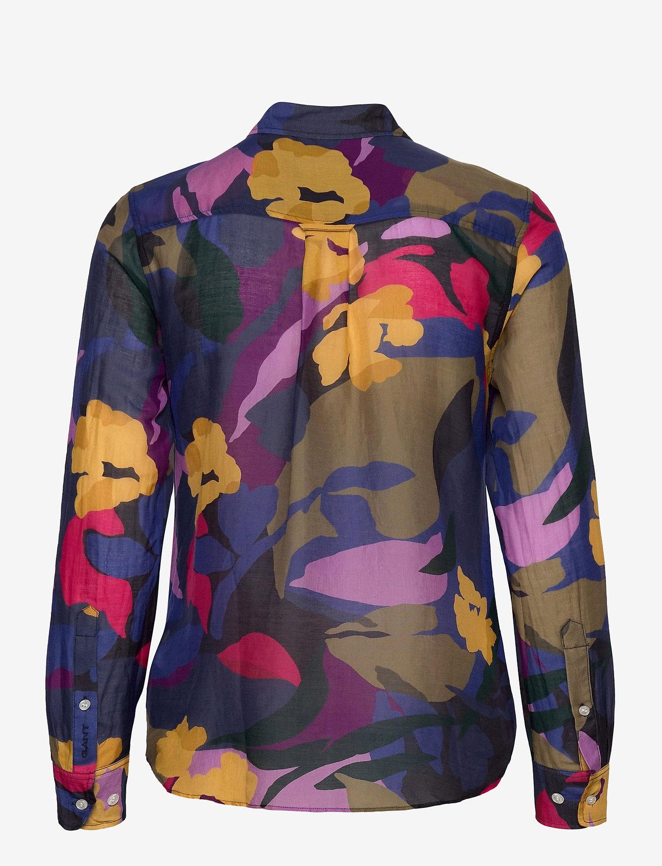 GANT - D1. SPLENDID FLORAL COT SILK SHIRT - long-sleeved shirts - multicolor - 1
