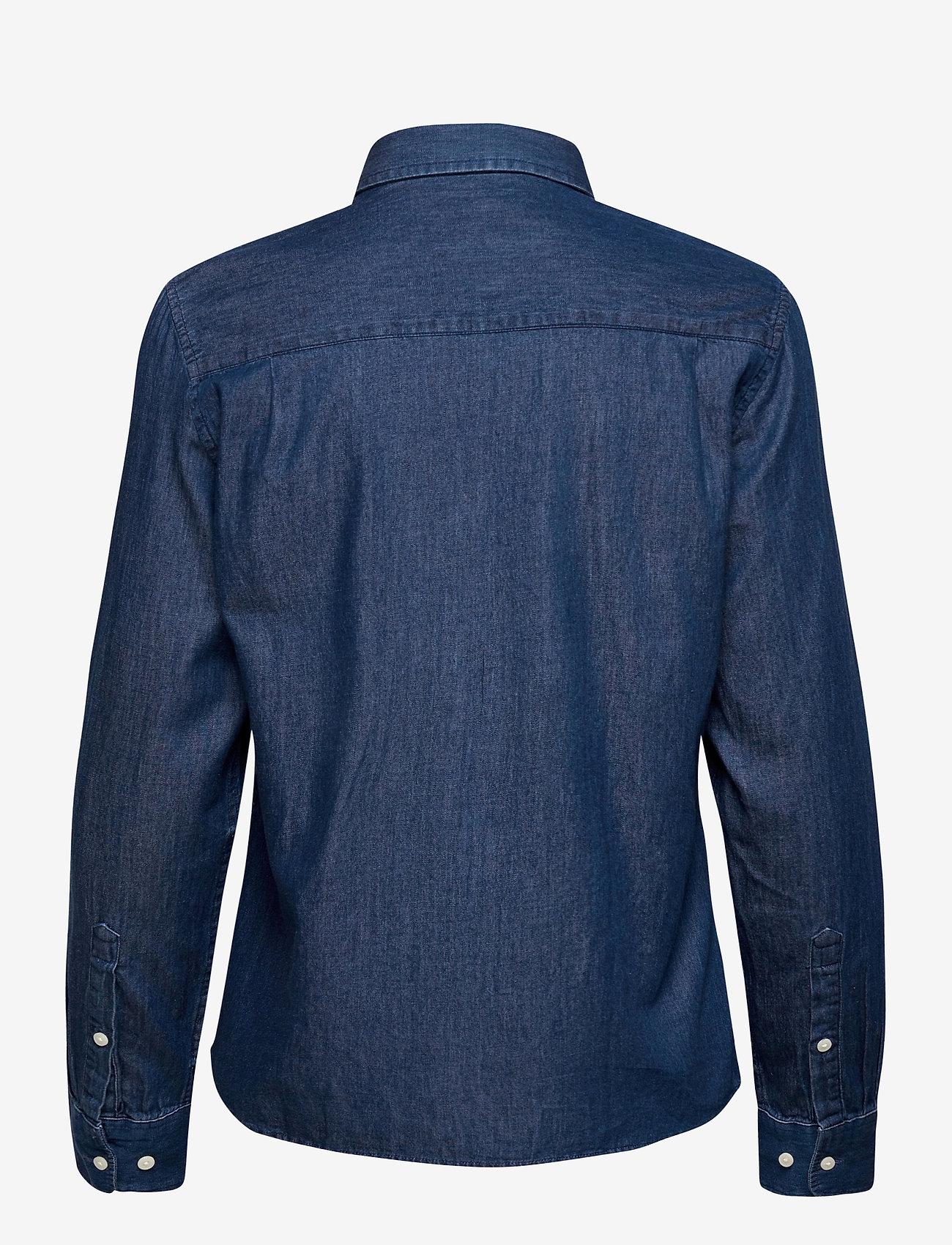 GANT - D1. LUXURY CHAMBRAY - jeansblouses - lt indigo - 1
