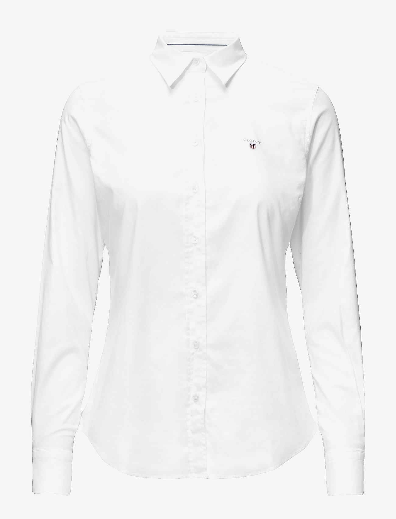 GANT - STRETCH OXFORD SOLID - long-sleeved shirts - white - 0