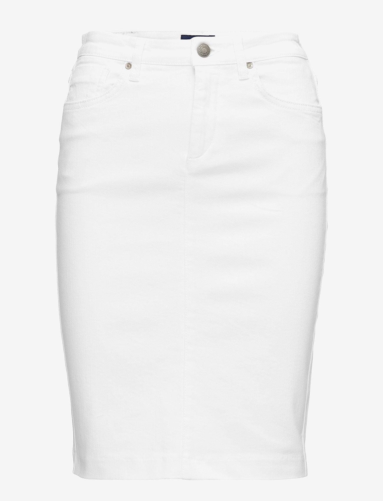 GANT - D1. WHITE DENIM SKIRT - denimskjørt - white - 0