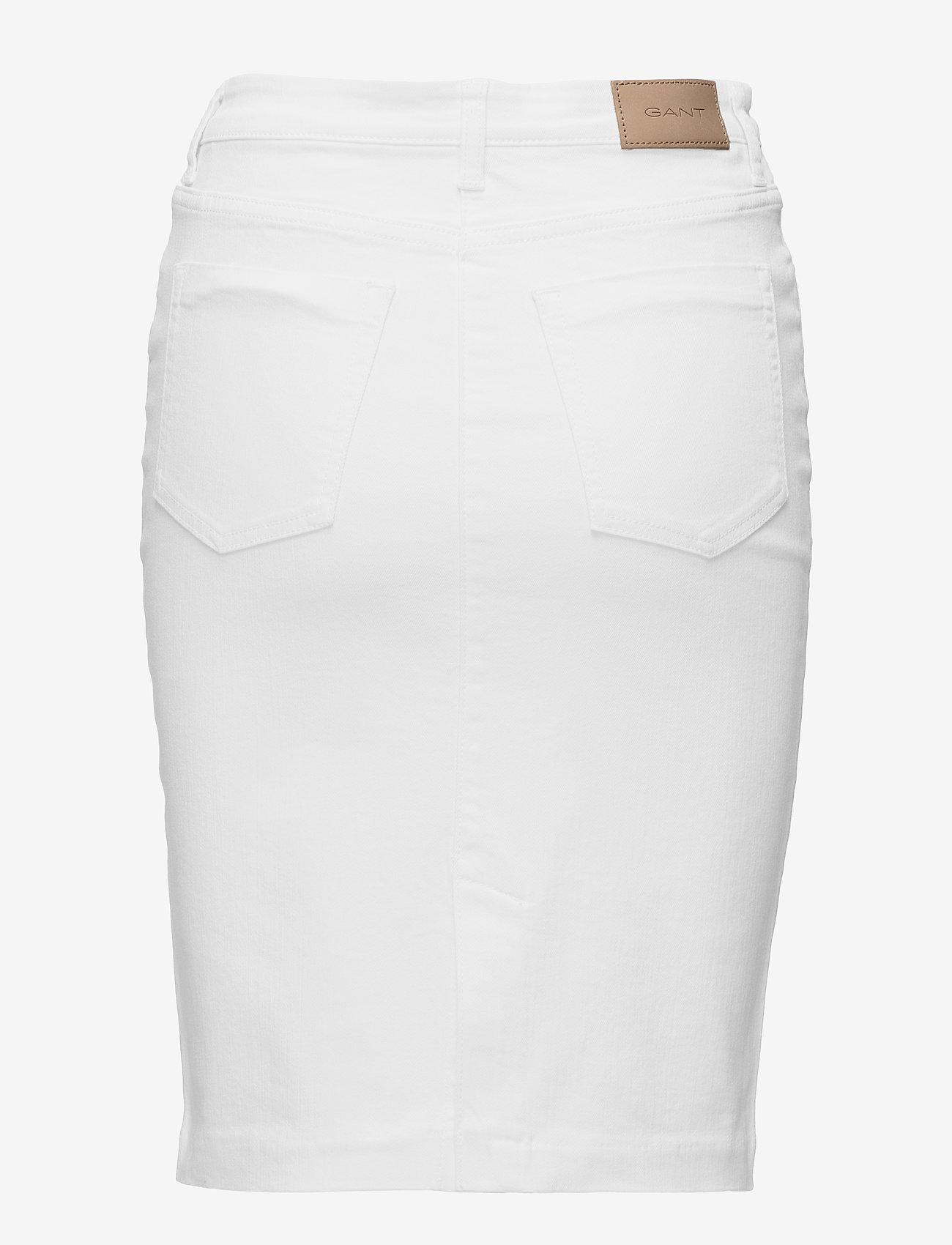 GANT - D1. WHITE DENIM SKIRT - denimskjørt - white - 1